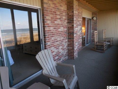 Contact your real estate agent to view this  Screened porch - Oceanfront condo for sale