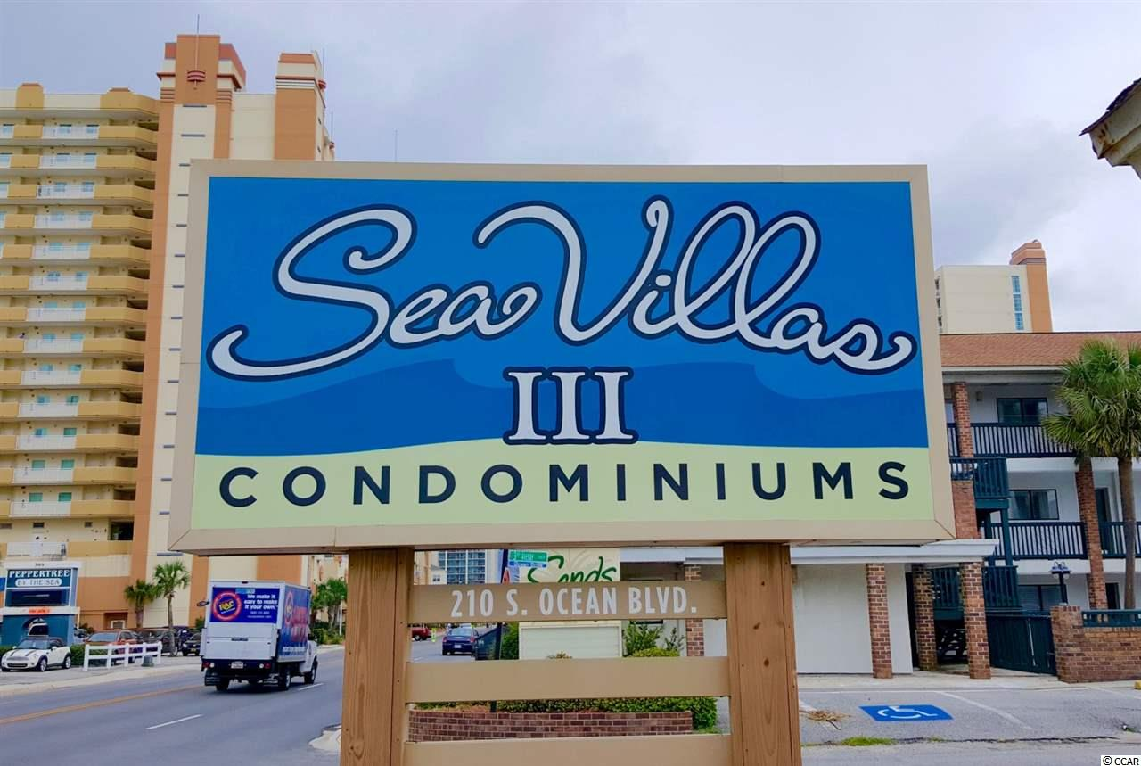 This property available at the  Sea Villas III in North Myrtle Beach – Real Estate