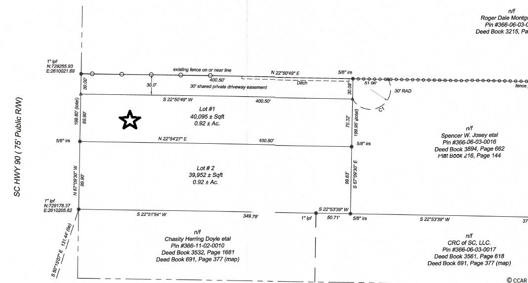 Single Family Home for Sale at Lot 1 Hwy 90 Lot 1 Hwy 90 Conway, South Carolina 29526 United States