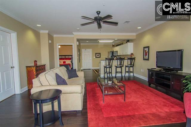 Exceptional condition.  Renovated unit overlooking Williams-Brice Stadium.  Sold completely furnished.  Gleaming hardwood floors throughout.  Renovated bath with tile shower.  Granite countertops and stainless steel appliances.  One of the best views of WB stadium in the Columbia.  Walk out balcony.