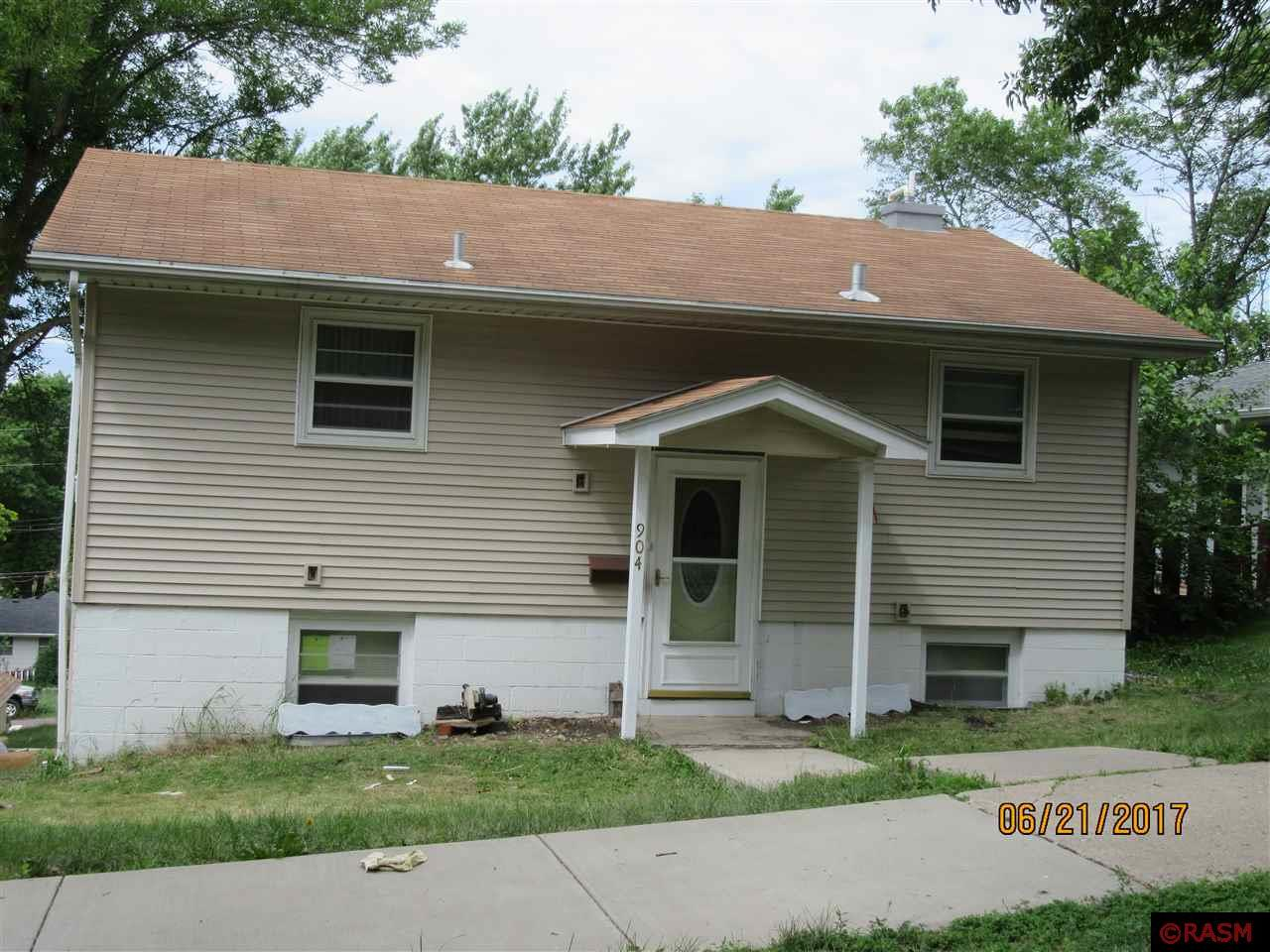 This functional bi-level split is move-in ready and has 3 bedrooms, 2 bathrooms located in New Ulm.  Double detached garage with fenced in backyard ready for you to enjoy!  This home is currently having new siding put on.  Call today for a private showing!