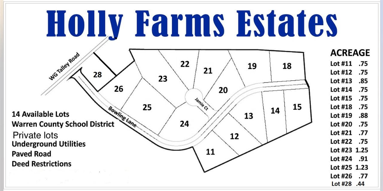 Lot 25 Bowling Lane Holly Farms Estates