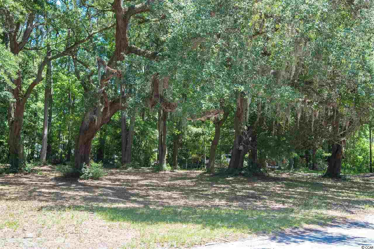 Come and look at this quaint village of Little River and check out this beautiful wooded corner lot mere feet from the Waterfront Community.   Neighborhood has no HOA.  Live oaks adorn this lot and would be a perfect backdrop for the house of your dreams.  Over 225 feet of road frontage.