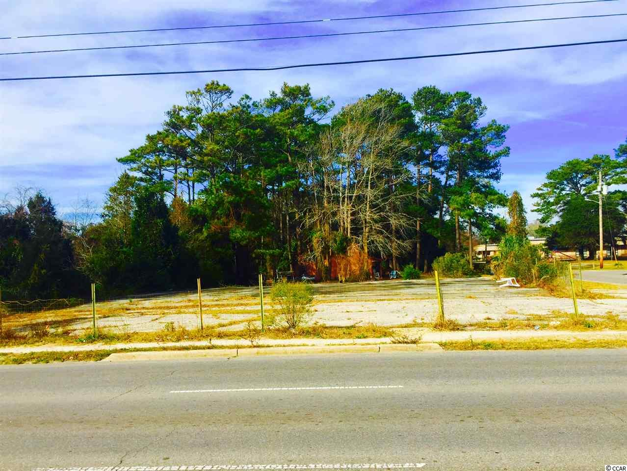 Nice Commercial Lot with direct frontage on Hwy 17 in North Myrtle Beach, SC Perfect for Drive thru Restaurant, Ice Cream Parlor, Retail Store, Convenient store, Car Lot, Real Estate Office. Excellent location just North of Hugely popular Barefoot Resort Community and Windy Hill Beach. This is a great opportunity to build your new business at the beach.