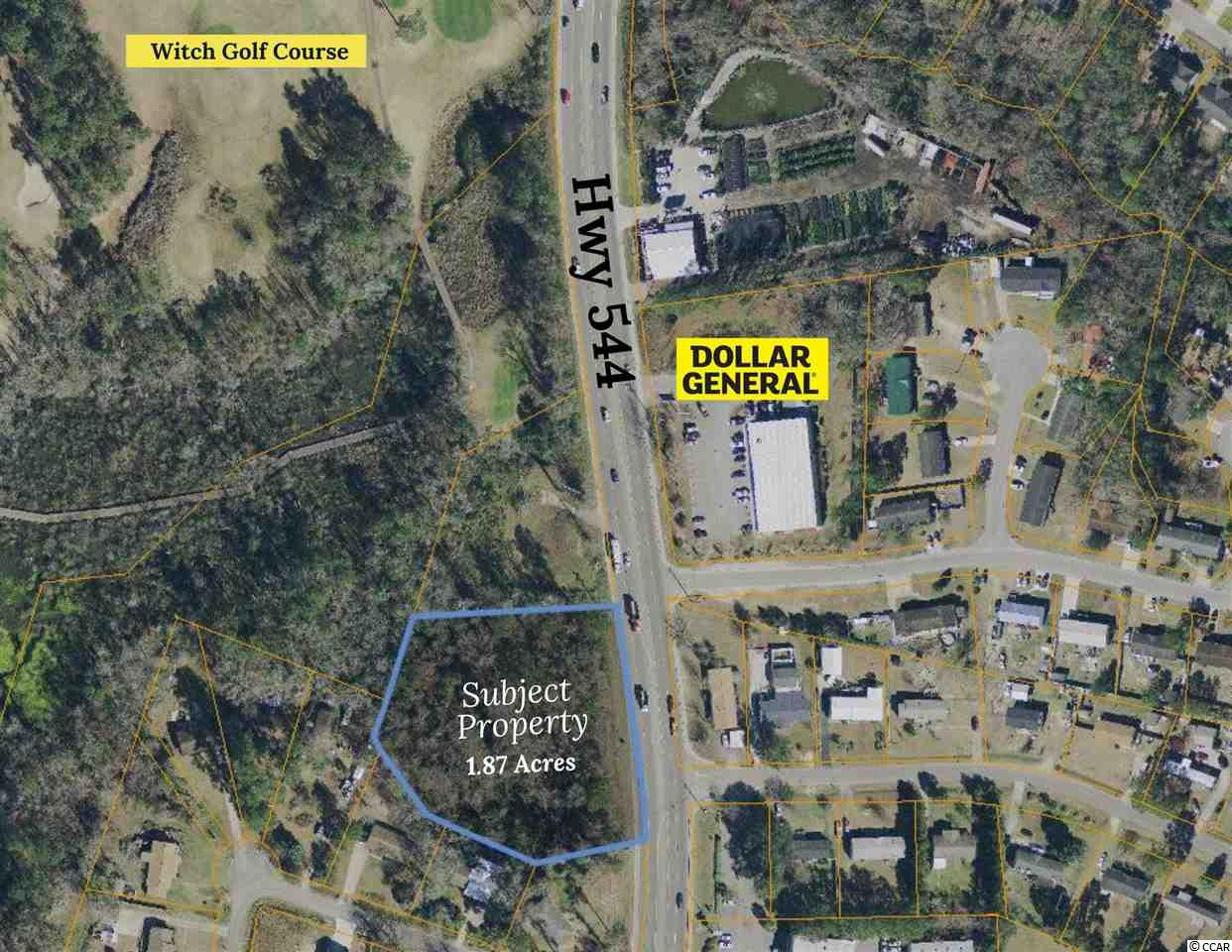 This property is almost 2.0 acres in size and is located between the Socastee Community and Coastal Carolina University. There is a lot of growth potential in this area especially with the continued growth of the College and the Technical College. The property has over 300 ft of road frontage and can be zoned to a commercial usage.