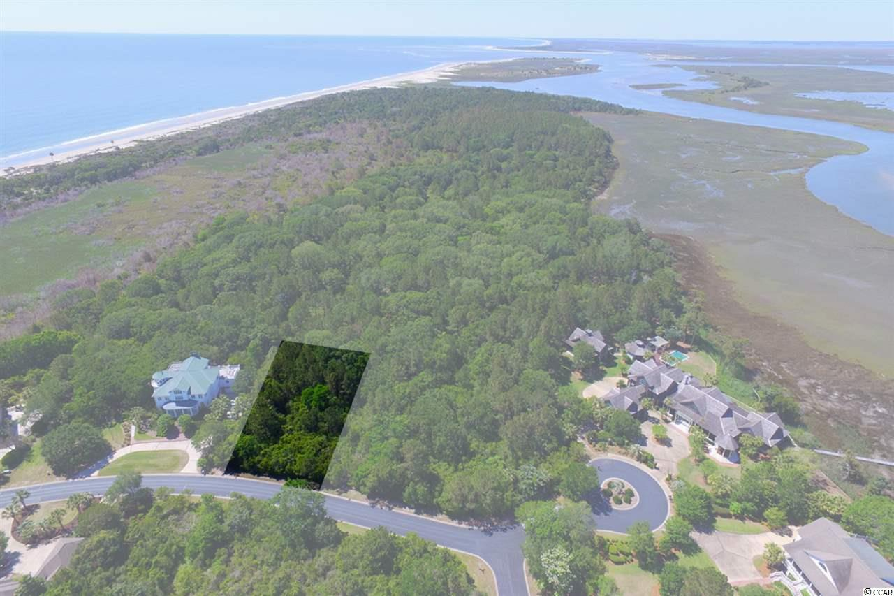 """Island Community - Enjoy this ultimate private location on the South End of DeBordieu's island community that backs up to the thousands of acres that are Hobcaw Barony...a wildlife and nature preserve never to be developed.  This homesite offers one of the very rare opportunities to build your home on land with such a pristine, untouched back yard.  The potential for fabulous marsh and ocean views are right here.  DeBordieu Colony is a very private, oceanfront, gated community located near Pawleys Island, South Carolina on the coast between Charleston and Myrtle Beach. The onsite private DeBordieu Club offers amenities such as golf, tennis, and multiple dining options to DeBordieu Club members and guests. Natural amenities include miles of beach and tidal creeks, an on-site nature preserve with walking trails and bike paths, and a delightful year round climate. DeBordieu is home to a limited number of fortunate folks that enjoy the finest """"Lowcountry Lifestyle"""" as either permanent residents or second home owners."""