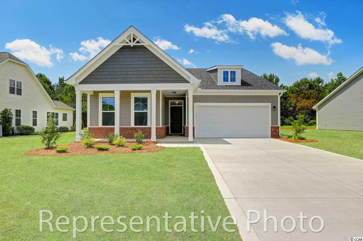 """You will love this beautiful 2-3 Bedroom, 2 bathroom, 1,815 square foot home. This charming home includes 9' First Floor Smooth Ceilings with cofferred or trey ceilings per plan, 2 panel textured cathedral style interior doors with Kwikset brushed nickel hardware, 4.25' baseboards and 2.24' casing & shoe molding, crown molding in foyer, 2 piece chair rail in formal foyer, ventilated closet & pantry shelving. The Interior Features include a designer kitchen with granite counter tops, 8"""" stainless under mount sink, cabinets: staggered height, flat panel with crown molding and hardware, stainless faucet with pullout spray, 1/3 horse power disposal and Frigidaire appliances (stainless steel, smooth top, self-cleaning electric range, over the range microwave & dishwater). The high tech electrical features include USB outlet in kitchen, phone jacks, cable jacks, recessed lighting & pendants, structures wiring package with smart panel, CAT5 wiring and RG6 CATV, and 2 ceiling fans with light kits (pre-wire all BR). The Exterior features include a 30 year architectural shingles, insulated garage doors with opener, 2 remotes & keypad, professional landscaping package, Kwikset brushed nickel lock set with deadbolts, Low-E insulated windows, 2 exterior hose bibs & electrical receptacles, 2 flood lights on rear of home, aluminum gutters with splash block wraps the home, and a covered porch. With Energy Saving Features: 2x6 Exterior Walls with R-19 Insulation, ecoSelect Certification, TRANE 16 Seer Energy Efficient HVAC system, 95% Efficient Gas Furnace, Radiant Barrier Roof Sheathing, 50 Gallon Gas Water Heater, and Insulated & Weather Stripped Pull Down Attic Stairs. The H&H Homes peace of mind features include a 400 point quality assurance program conducted by an experience third party licensed home inspector, 2-10 home buyer's warranty & online service requests, GEMS Great Expectation Management System, Security System- Exterior Doors, 1 Motion, 1 Keypad, Taexx Built-in Pest """