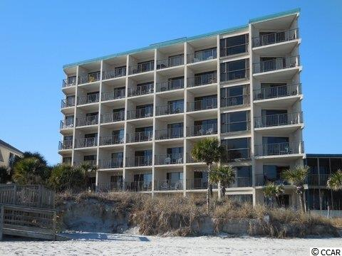 One of a kind condo at the Litchfield Inn with what I consider a tropical view of the ocean between the Palmetto Palm trees. This condo features a corner location and is sold fully furnished. The interior is tastefully decorated and it has a very good rental income for our area. Relax beside one of the two oceanfront pools, or on the beach below. Dine on-site at one of our areas favorite restaurants overlooking the beach and ocean. Come to Litchfield for a visit...stay a lifetime as I have! The square footage is approximate and not guaranteed. The Buyer is responsible for verification.