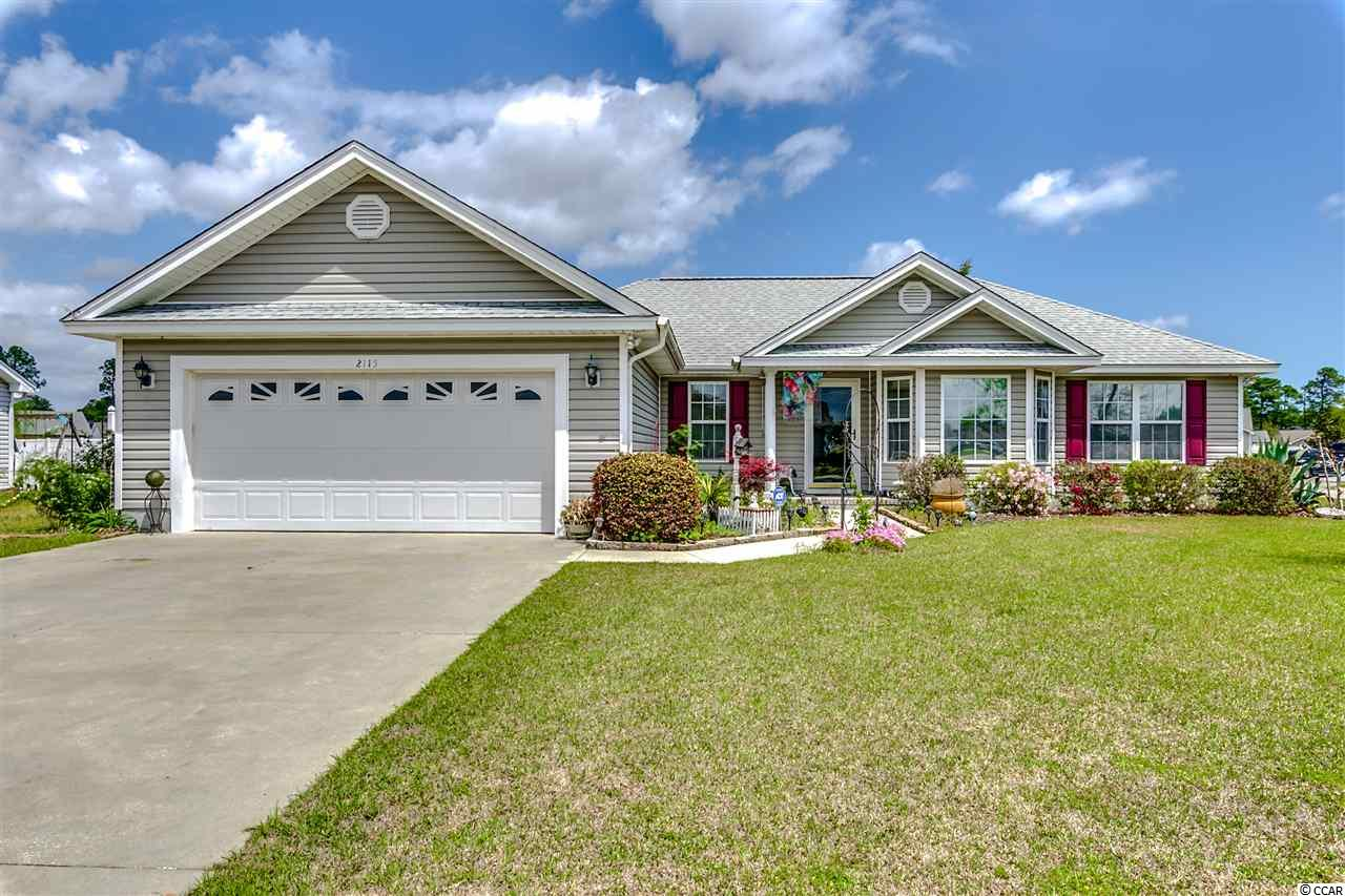 Thanks for viewing this beautiful corner lot home in the Castlewood subdivision.  Located between Hwy 544 and Hwy 501 with easy access to all things in the area.  The home is loaded with features - split bedroom floor plan - 3 bedrooms and 2 baths with a bonus room that could easily be converted to a fourth bedroom.  Nicely landscaped with good size back yard.  Master bedroom has a tray ceiling, large walk in closet and ceiling fanand in suite bathroom.  The Carolina Room is tiled and has beautiful wood walls and large windows and curtains.  There is also a separate room that can be used as a study or office work area.  Laundry room has cabinets and leads out to a 2 car garage with built in cabinets and a pull down staircase that leads to storage above.  The spacious kitchen offers real oak cabinets, stove, dishwasher, refrigerator, microwave, garbage disposal, breakfast bar and breakfast nook.  The home also has a room that is currently used as a study/office area.  Ceiling fans in most rooms,  4 ton AC Unit is less than six months old (at time of listing), and there is also a storage shed out back that conveys.  AC WINDOW UNITS DO NOT CONVEY - THEY ARE THERE FOR LOCAL CONVENIENCE ONLY BUT NOT NECESSARY TO COOL THE HOME.