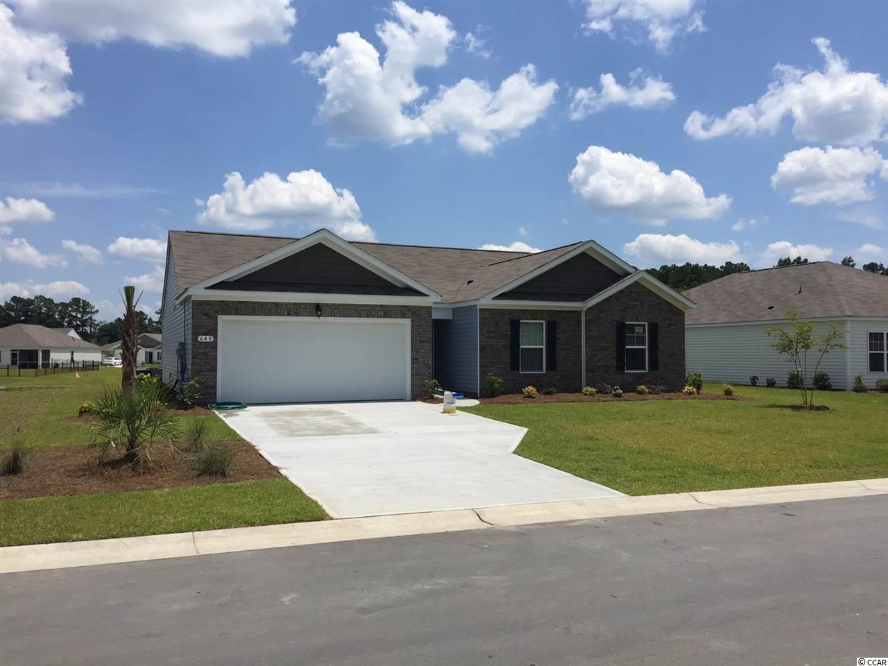 """Limited opportunities remaining!  Anchors Bend is a quiet community in Longs in its final phase.  Jump in the car and you're less than 15 minutes to Cherry Grove Beach or the shopping & restaurants of North Myrtle Beach.  LOCATION, LOCATION, LOCATION!  Close to everything, but outside of the hustle and bustle!  IT'S A LIFESTYLE!  Location is fantastic for families, shaggers, & beach lovers.  ENJOY LIFE!  Pool & amenity center with workout room included in the cost of the HOA.  This would make a fabulous secondary or primary home.  Don't just vacation here – live here!  The most amazing walk-in closet you'll see!  This is the Alston plan: a spacious 3 bedroom, 2 bath ranch. Wood-look luxury plank flooring is a low-maintenance alternative to hardwood, and is located throughout the home, including wet areas (carpet in the bedrooms). Open layout that offers a 17' x 19' living room and separate laundry area.  Large owner's suite and bath with a 5 ft. shower, double vanity and sink and an enormous walk-in closet. Fabulous pantry, upgraded granite countertops and island with breakfast bar. Upgraded pendant lighting and 36"""" staggered maple cabinets in kitchen. Stainless kitchen appliances are standard. Large owner's suite and bath with a 5 ft. shower, double vanity & sinks, and an enormous walk-in closet. Sliding doors lead to an 8x17 covered porch overlooking a beautiful pond!  **PLEASE NOTE THIS HOME IS UNDER CONSTRUCTION AND THE PICTURES OF THE INTERIOR ARE OF A SIMILAR HOME IN THE COMMUNITY, PICTURES WILL BE UPDATED ONCE THE HOME IS COMPLETE.  ESTIMATED COMPLETION: JUNE 2018."""