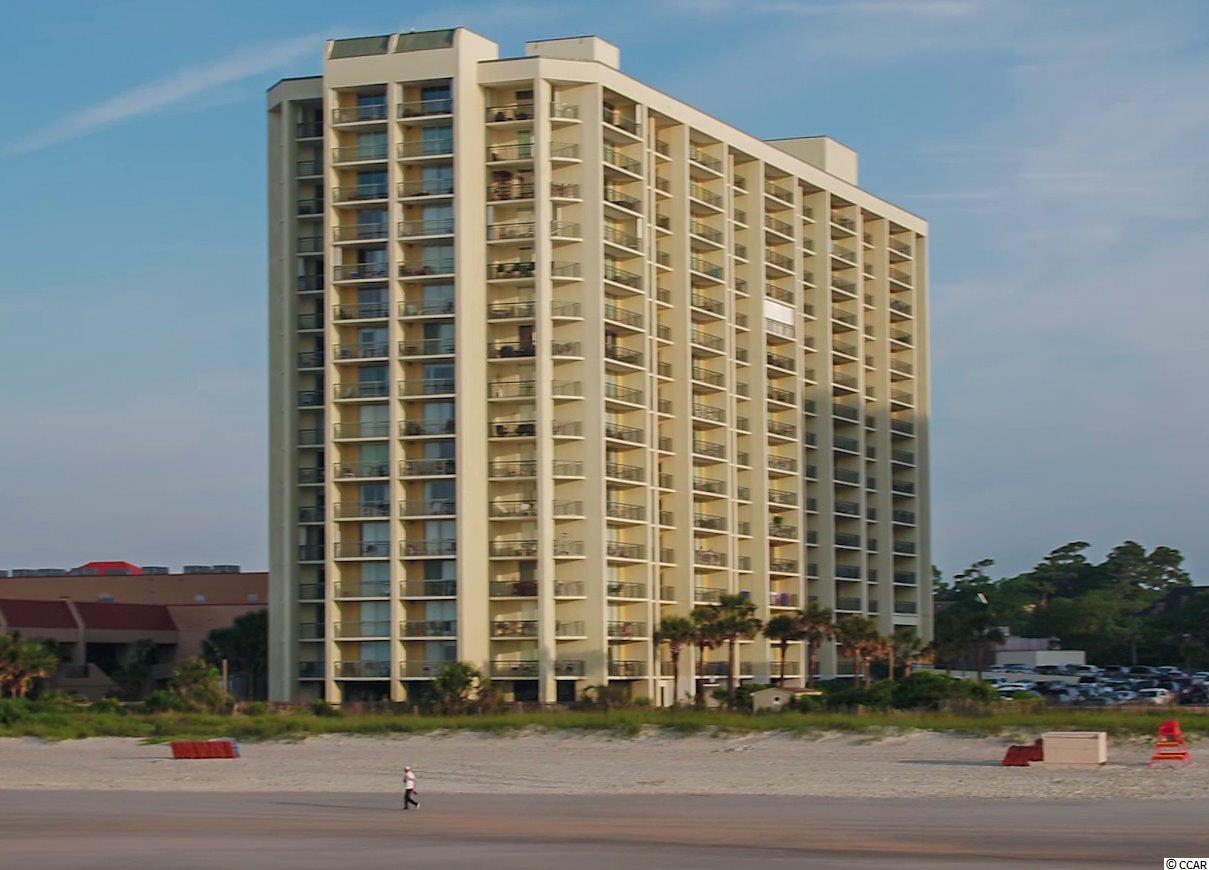 """This is a three bedroom, three bath ocean view condominium located in the South Hampton tower next to the Embassy Suites at Kingston Plantation.  A """"lock-out"""" configuration allows this to be used as a one bedroom and a two bedroom or as a three bedroom with the connecting door.  There are three separate balconies with an expansive view of the ocean on the north side of the building.  South Hampton has an oceanfront pool on the south side of the building and there is a """"community"""" pool on the north side of the South Hampton.  In addition, an elevated walkway connects this tower to the Embassy Suites Hotel with easy access to the restaurants, bars and Splash water park and pools.  A short walk on the boardwalk connects to the Hilton Hotel where owners are also able to partake in pool activities and the use of the bars and restaurants at Kingston Shores.  This is a great price for a three bedroom condominium at Kingston Plantation with a view that is spectacular."""