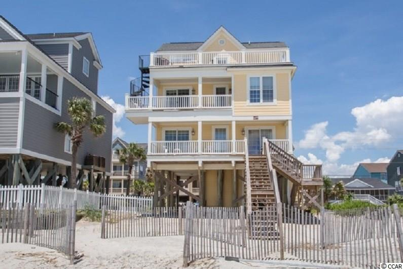 Fully furnished 5 BR / 4.5 BA 2.5 story oceanfront home with ocean views from 3 oceanfront porches!  Living area on 2nd floor, large master suite on 3rd floor with sundeck & hot tub, 2 other oceanfront bedrooms, 2 separate sitting areas, custom kitchen with SS appliances and granite countertops, security system, enclosed outdoor shower, parking & storage room under house.
