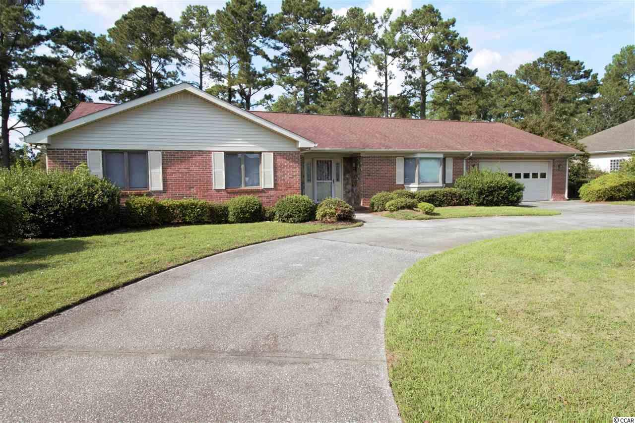 "This 2200 Heated Sq. Ft. BRICK RANCH Is Located on The 11th Tee Of The Hackler Golf Course at Coastal Carolina University & Features An Inground Swimming Pool, Large Rooms & Carolina Room Overlooking Park-Like Setting. Conservation Easement Appears To Prevent Hackler Course From Ever Being Developed And Must Remain Golf Course or Green Space. Light & Spacious Kitchen With Granite Tops & Updated Cabinetry & Hardware. The Home Needs Some Updates But Has Solid Bones. The Potential To Be A First Class Residence With Instant Sweat Equity Is There! Attached 2 Car Garage. Priced Accordingly For An ""AS IS"" Sale. Sq Footage Is Estimated And Should Be Verified By Buyer."