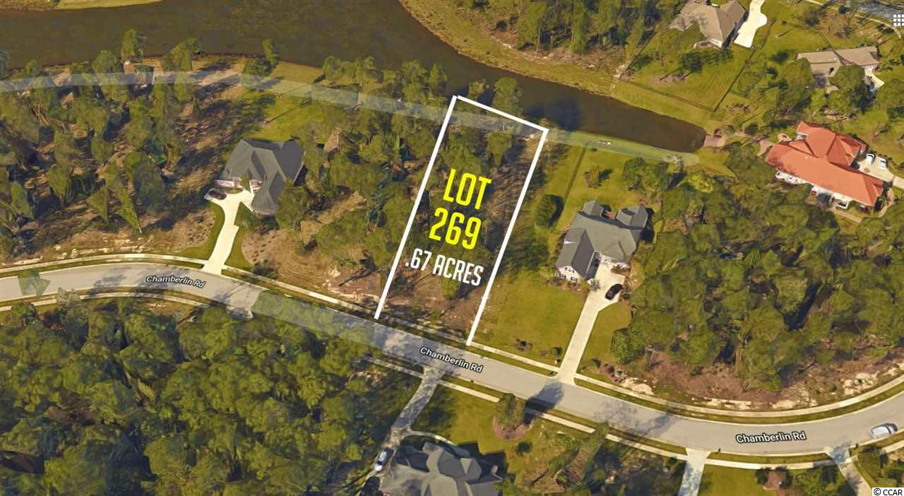 Large lot of .67 acres on a large lake in this gated community. Cypress River Plantation is a unique and upscale residential community of gorgeous custom homes and amazing large lots.  Nestled directly along the Intracoastal Waterway on the southern end of Myrtle Beach, this quiet, gated community is perfect for beautifully understated low country living at its finest! A certain laid-back elegance embodies this boat and golf-cart friendly community.  The community lends itself to boating, not only in its location, but with the conveniences allowed for residents!  A convenient private boat launch is well designed and easily accessed by boaters, and the beautifully decked day docks are perfect for loading and unloading after a long day of fishing, skiing, or merely boating the waterway.  A dry storage lot is also conveniently located near the launch, and is secured with fencing. Residents enjoy more than just boating here in Cypress River Plantation!  Take a dip in the amazing Olympic sized swimming pool.  The little ones love the kiddie pool, and kids of all ages love the playground, tennis courts, and basketball court.  The community club house is well appointed, and perfect for your next pool party or get together! No time frame to build and bring your own custom home builder. All information is deemed reliable but not guaranteed. Buyer is responsible for verification.