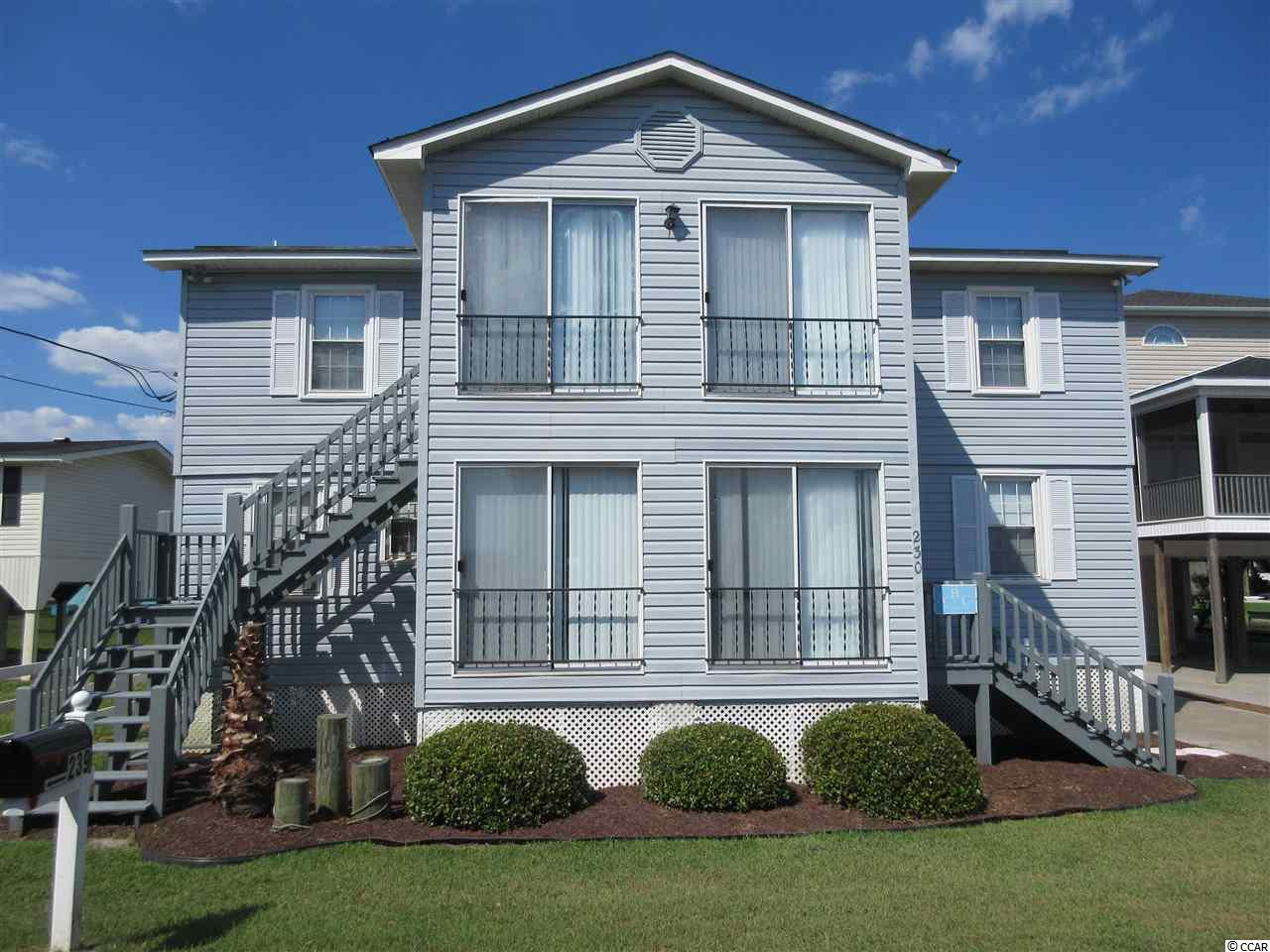 Unique opportunity to own a duplex just two blocks from the ocean. Property is divided into an upstairs and downstairs unit which both consist of 3-bedrooms, 2-bathroom. Rent both units as an investment property or use one & rent the other to offset expenses. Contact the listing agent, or your Realtor, for more details or to arrange a showing.