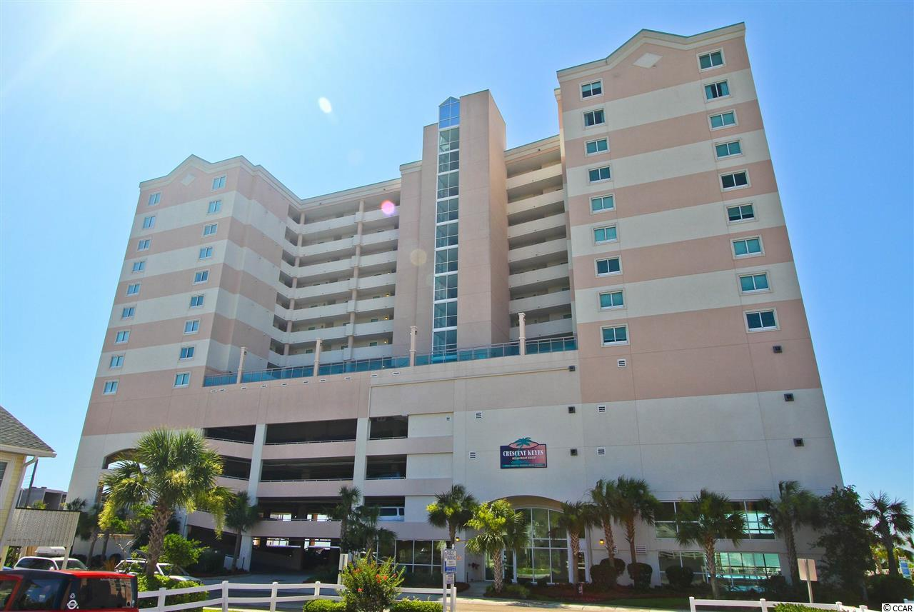 Beautiful Oceanfront 2 Bedroom/2 Bathroom Condo in Crescent Keyes located in the highly sought after Crescent Beach area of North Myrtle Beach.   The 14 story building has an exercise room with a view of the ocean and pools, a total of 9 water features on the beachside ground level and 6th floor courtyard including beachfront 56' outdoor swimming pool, indoor pool, 2 oceanfront hot tubs, kiddie pools, 2 lazy rivers and hot tub complexes. Unit 809 has furniture less than a year old, 3 TV's, 3 DVD players, Washer/Dryer, Ceiling Fans, Granite Countertops and Balcony off the Master.
