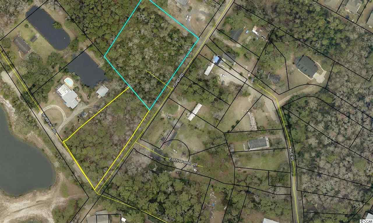 Excellent opportunity for investors , builders or developers. These two lots totaling 2.5 acres  are located on Ford Road just  off Ocean Highway in Pawleys Island and could be subdivided into 9 potential lots.  The property  could also possibly be used for multi -family housing . Just around the corner from the new county rec center.Fantastic central  location -tucked away from the hustle and bustle  but just minutes from shopping, restaurants, attractions and the beach.  Please see your agent for survey and plat for 9 lot subdivision .