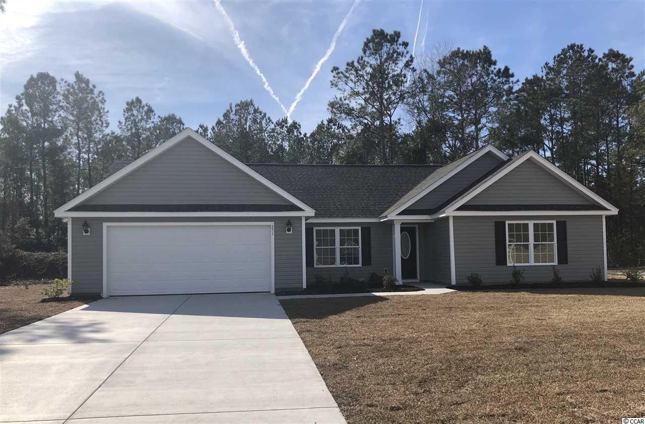 This is a most desirable Cypress model featuring an open floor plan, 3 bedrooms, 2 full baths, upgraded vinyl flooring, vaulted living room ceiling, 2 car (Tandem 3rd car) garage, a covered back porch and a 14 x 10 back patio. It is located in the beautiful community of Yauhannah Landing featuring an exclusive community boat landing and spacious 1/2+ acre lots. It is boat and RV friendly. Homeowners will need to park their boats and/or RVs on a prepared surface (preferably concrete) in the back yard. Yauhannah Landing Community is surrounded by gorgeous trees. It is located approximately 16 miles from Conway, SC and approximately 25 miles from Georgetown, SC and just about 45 minutes from the beach! It doesn't get any better than this so come on out to Yauhannah Landing Community and start living the life you have always dreamed of!