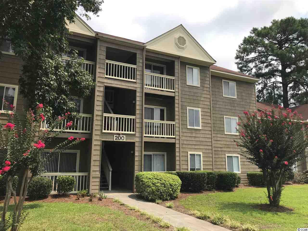 This beautiful 2 Bedroom 2 Full Bath Condo is a third floor unit with a beautiful view at Myrtle Greens. Myrtle Greens is conveniently located on Singleton Ridge road near Coastal Carolina University, Horry Georgetown Technical College, and Conway Hospital. This complex is only a fifteen minute ride to the beach, 5 min ride to Tanger Outlet Shopping center, and close to many several restaurants and attractions. This condo has been freshly painted and has brand new carpet, also very close to the community pool and amenities. Schedule your showing today!