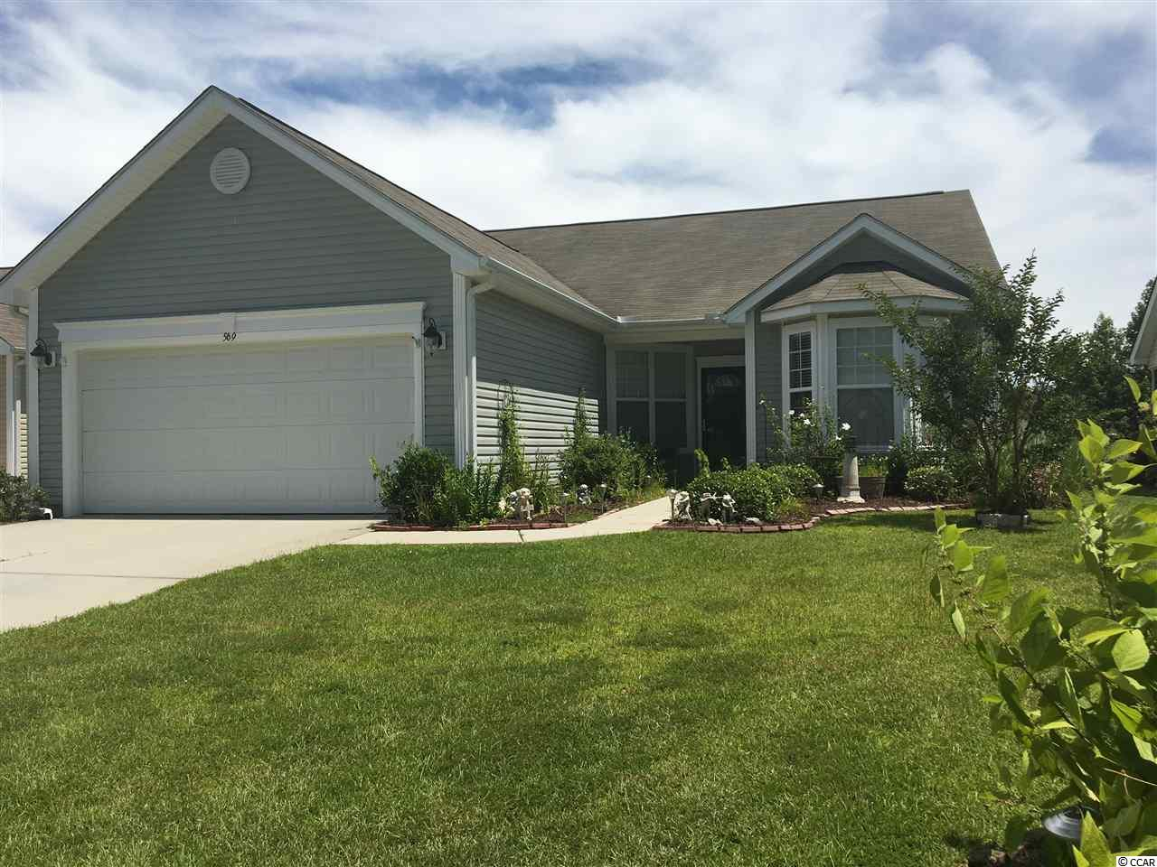 Lovely waterfront home in the highly desirable Hidden Lakes Village subdivision. Split floor plan. Two car garage. Nicely situated in community.
