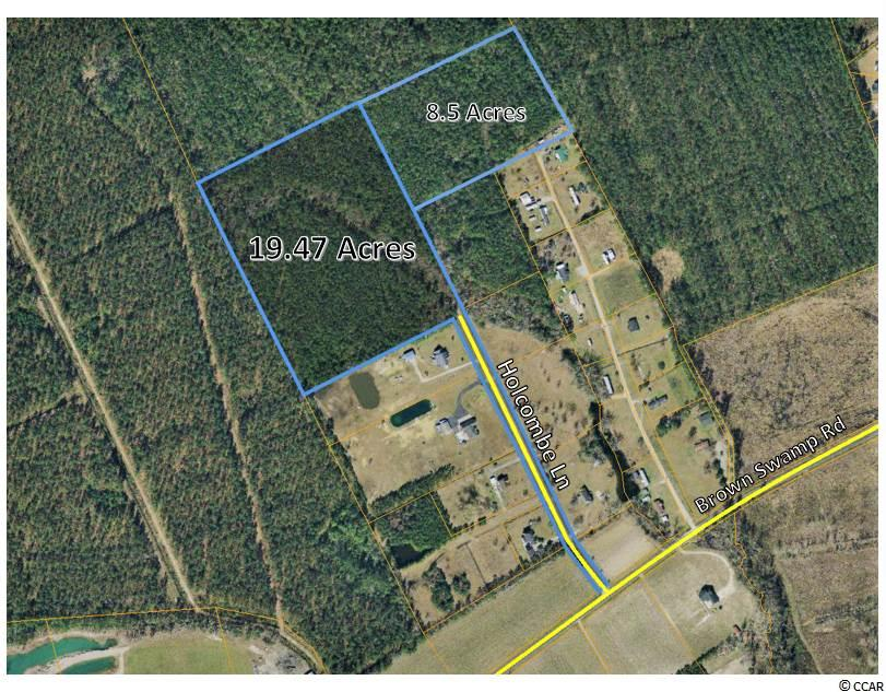 Property great for developing!  Two tracts of land, 19.47 acres and 8.5 acres.  Property accessed from Holcombe Ln. Owner will subdivide.