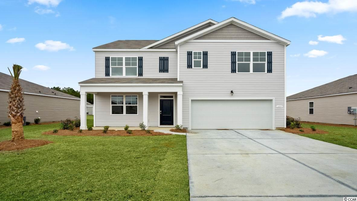Community in the coveted St. James school district! This Hayden plan home offers 5 bedrooms; one bedroom on first floor, a flex room and upstairs living space. Large owner's suite with dual vanities and 5' shower in bath. Nice, open flow between kitchen and living areas is great for entertaining around the large kitchen island. Low maintenance vinyl plank flooring gives the look of wood with easy care and cleanup! Granite counters in the kitchen, Frigidaire appliances. Bathrooms have cultured marble countertops with undermount sinks. Covered rear porch for outdoor living space looks out over the water. Low community HOA fees. Amenities include open air pavilion and fire pit for family and community gatherings. Pictures and virtual tour are of a finished home and are for representation only; features and finishes are different in this home. Home and community information, including pricing, included features, terms, availability and amenities, are subject to change and prior sale at any time without notice or obligation. Square footages are approximate.   Equal housing opportunity builder.