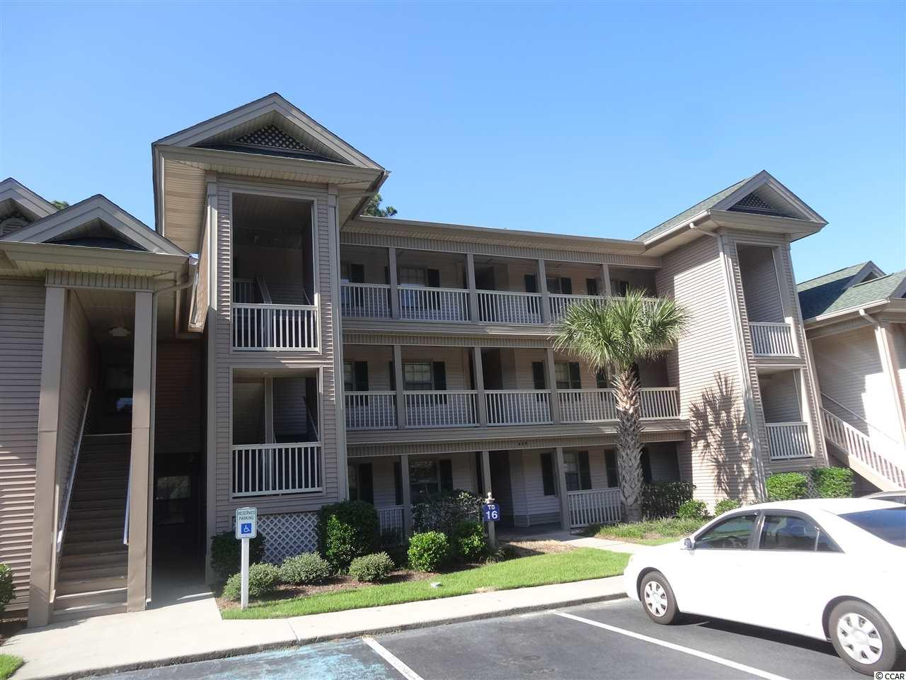 What an excellent opportunity to own a 3rd floor True Blue Condo for a primary home, second home, or investment property (short term and long term rentals allowed). 3 bedroom/ 2 bath condo with a view of the lake and the 17th Fairway of True Blue Golf Club. Seller has used as an investment property for 15 years and has never rented to smokers or pet owners. This 3rd floor unit has vaulted ceiling in the great room and dining area, ceiling fan in the great room and large picture window to view the golf course, lake, and wooded area. Very functional kitchen with lots of cabinet and counter space, pantry, and breakfast bar. All 3 bedrooms have ceiling fans with lights and master bedroom/bathroom with a large walk-in closet and vanity. Large screened-in porch as well for relaxing and enjoying your morning coffee or afternoon beverage. Updates include roof replacement in 2014, new refridgerator and dishwasher in 2012, and dryer in 2013. True Blue Golf & Racquet Club offer 4 pool areas with hot tubs, 2 tennis courts, a gazebo and park area, golf club house with restaurant and pro shop, and The Steve Dresser Golf Academy. Close to Pawleys Island beaches, restaurants, nightlife, shopping, and other area golf courses. Myrtle Beach is 25 miles, Georgetown approximately 8 miles, and Historic Charleston 70 miles.