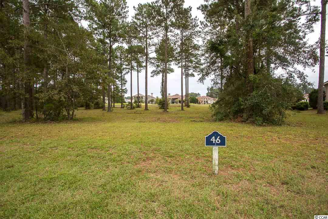 Lot in Grande Dunes-Tuscany and ready to build upon.  Beautiful community and has 18 hole course plus this lot backs up to 7th Tee.  HOA fees include access to the beautiful Ocean Club!   View the pictures and select your builder with no time frame to construction.