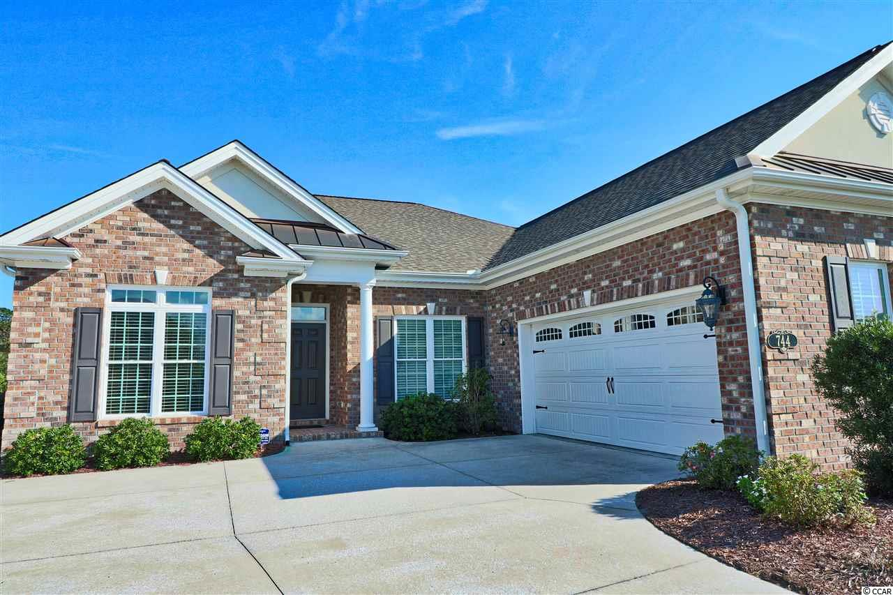 "Welcome to Cipriana Park at Grande Dunes and welcome home. This opportunity offers everything; curb appeal, extremely livable floor plan, highest quality construction, corner lot and greatest neighborhood in the area. This ""Sabal"" plan sits on a corner lot and offers a courtyard style garage and half circle driveway. Home is beautifully landscaped with irrigation system. Inside you will find an open, inviting floor plan that is one of the best selling plans in neighborhood. 3 bedrooms, 2 baths and split bedroom style. The large Great Room has 10 ft. ceiling with a Tray accented opens to a bright Sunroom. The kitchen is not only beautiful, but functional, with bordering walk-in pantry, home desk space and entry to formal Dining Room. Owners will enjoy the large Owners Suite with tray ceiling, huge walk-in closet and bath featuring custom tiled shower. Home shows distinctive ""wood look"" tile flooring, extensive trim and moldings and shows as new. The location is the most desired with easy access to shopping, dining, medical facilities and all of the fine amenities in Grande Dunes."