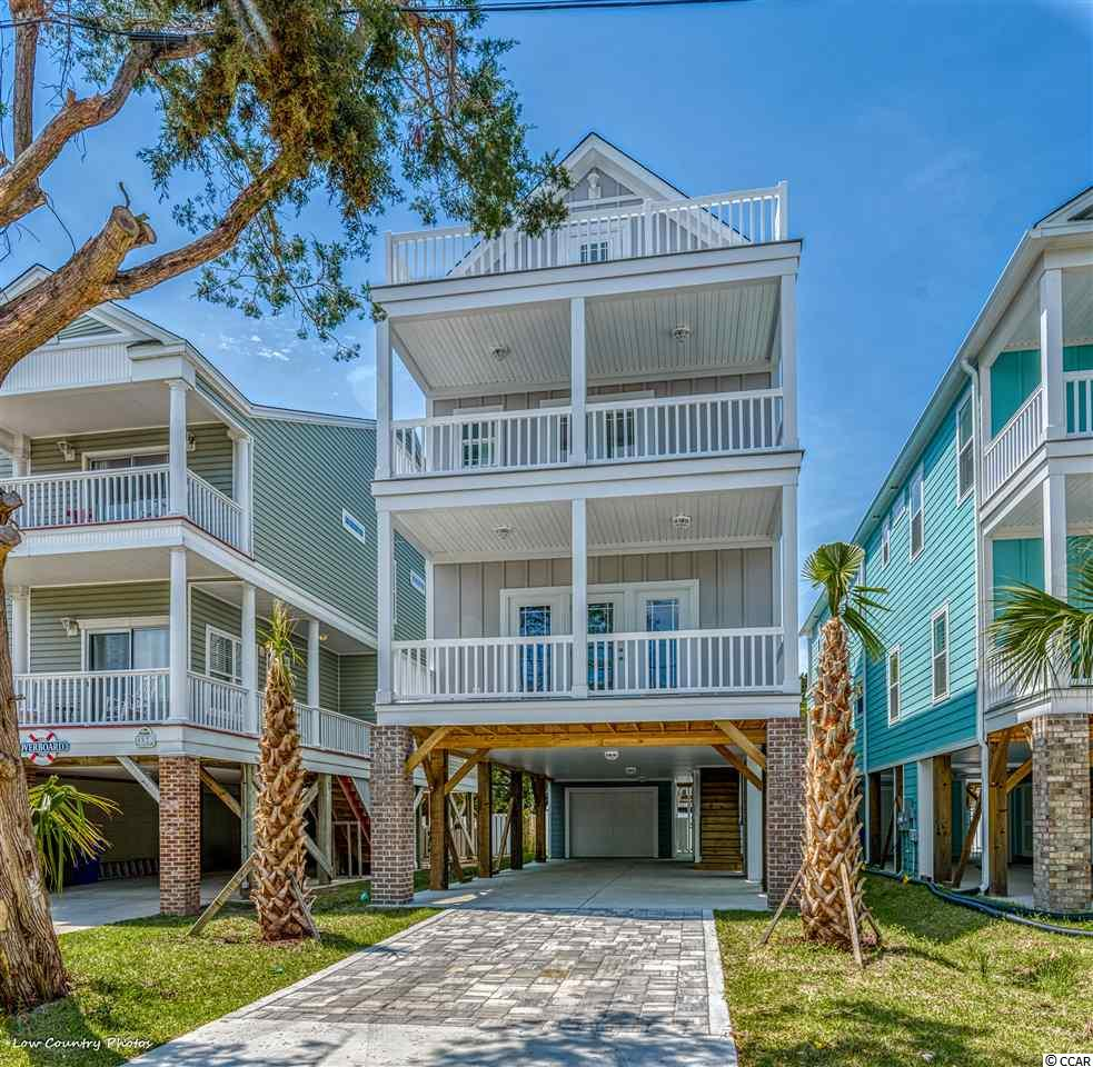 """Currently Under Construction --- Brand New 5 Bedroom, 6 1/2 Bath raised beach home just a short walk to the Ocean in Surfside Beach, """"the family beach"""". This home boasts 3 floors with a master suite on the 3rd floor in addition to large bedrooms throughout. Private pool is a bonus. Don't miss out on a great opportunity to own new construction! Buyer responsible for verification."""