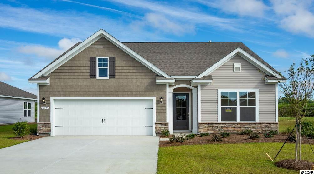 """Inlet Reserve is the place you want to call home! This is a natural gas community featuring 69 spacious homesites with private and pond views, conveniently tucked away in the heart of Murrells Inlet , yet just a short drive to championship golf courses, marinas, shopping, hospitals, beaches and the Marsh Walk where you'll find year round entertainment and award winning restaurants with spectacular views of the salt marsh and wild life.  If you are looking to downsize, upsize, or to add a pool and create your own outdoor living space, Inlet Reserve has the homesite and home for you.  We offer a mix of 1 story and 2 story thoughtfully designed open living floor plans, perfect for entertaining family and friends. The Acadia B is a very comfortable 1 story home with stone accents on the front elevation, 3 bedrooms, 2 bathrooms, crown molding, 5 1/4"""" baseboard, trimmed out windows and 8ft. entry door.This home offers a spacious kitchen 36"""" staggered height cabinets , granite countertops which includes a large gourmet island overlooking the family room, pantry, tile back splash, pendant lights and stainless steel appliances. This open floor plan is perfect for entertaining friends and family. Wood floors throughout the main living area. Owners suite and bath offers a walk-in closet, 5 ft. walk-in shower, double vanities and bowls. Split floor plan with 2 nice size guest rooms. Tasteful interior touches run throughout the house to finish off this must see home. New Community in popular St. James school district. Pictures are of a previous built home and model and are for representation purposes only. Ask about our included Smart Home Connection! Call and schedule your appointment today!"""