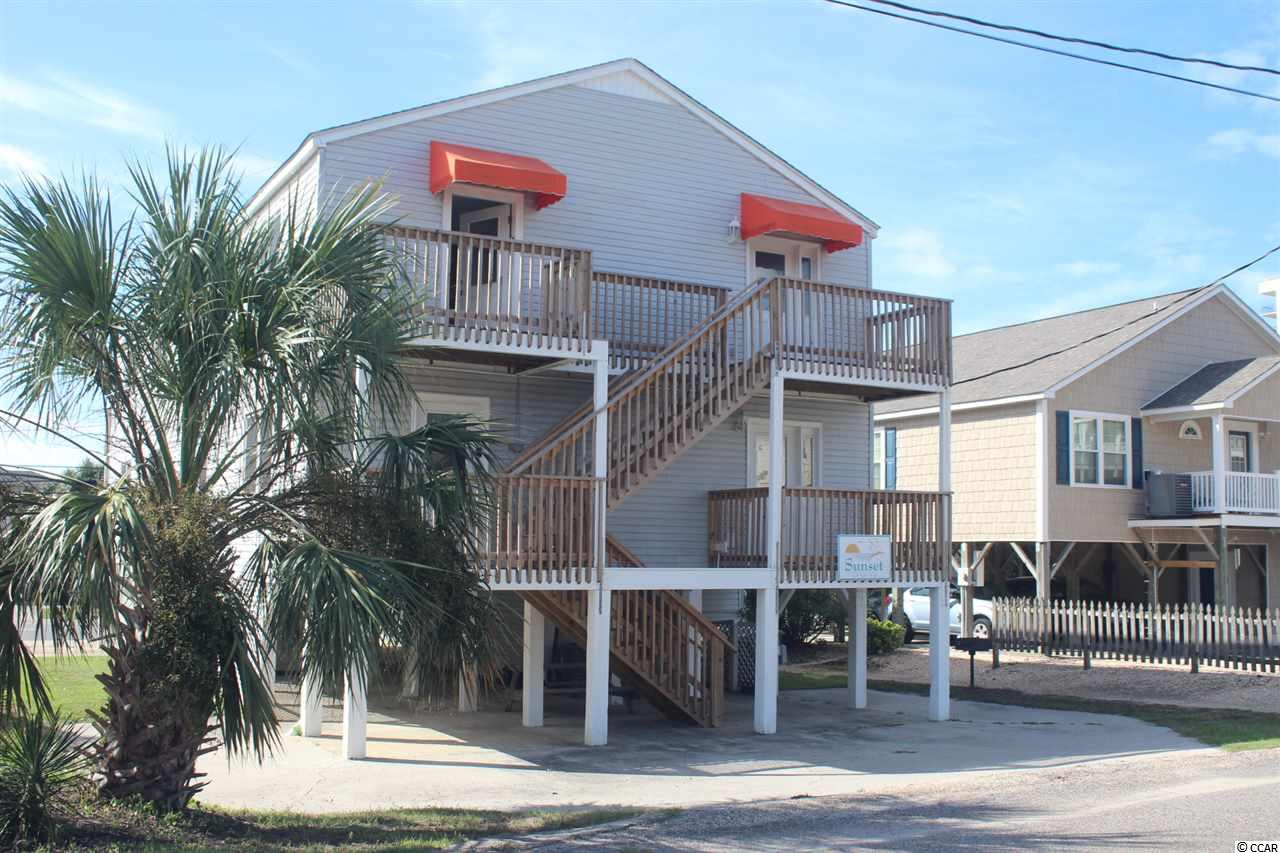 Sunset Landing in beautiful North Myrtle Beach, SC. No HOA fees. Ocean Views from all 4 units. Live in 1 unit and rent out the other 3 units. Would make a great AirBnB to rent all 4. This Quadruplex on Ocean Blvd consists of 4 individual Units directly across the street from the Beach on a large street to street lot.   Each unit comes completely furnished and has 2 bedrooms & 2 baths. Recent updates include new electrical & cable/internet wiring, new kitchen, new exterior balconies and decks, new mattresses, tile and laminate flooring. Separate electric meters. Room for a pool.  Sunset Landing is the perfect investment, rental property or family beach retreat for you. This is a  superb location with ocean views, plenty of white sandy beaches and close to entertainment and dining.   There are no HOA fees associated with this property.  Bring the whole Family and enjoy the Beach Life at Sunset Landing!
