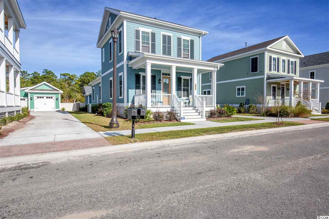 Unique Coastal Living!! Located in a quaint boutique style community with onsite amenities including clubhouse, pool, 8 miles of walking trails and side walks. HOA dues cover onsite and offsite amenities including the prestigious Grande Dunes Ocean Club. Natural Gas Community. This 3 BDR 2.5 BA home was built with 2x6 construction, spray foam insulation, 50 Year shingles, top of the line impact resistant windows, composite decking, Hardie siding, PVC railings, Rinnai tankless water heater, 15 SEER HVAC. Interior offers 10 foot ceilings, 8 ft doors, Granite-kit/BA, SS Kitchen Aid appliances, 7 1/4 Hard wood floors, Large tiled master shower. Smart home - wall mounting I-pad that controls functions for home, remote viewable security camera, keyless entry, in ceiling music, as well as other features.
