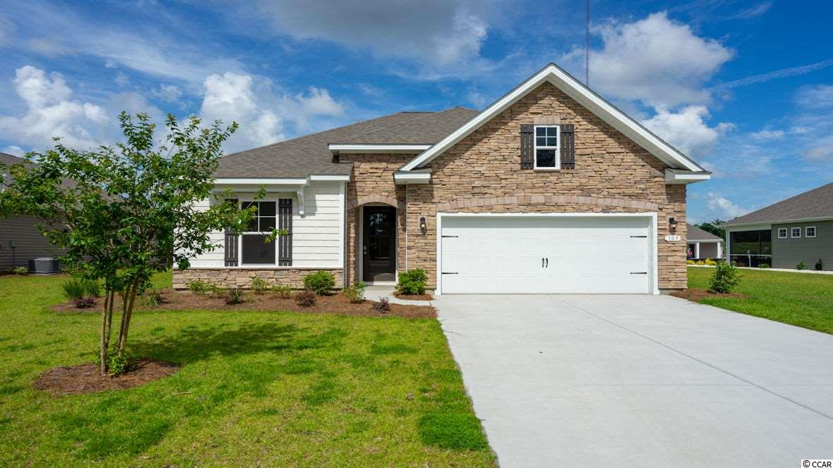 """Inlet Reserve is the place you want to call home! This is a natural gas community featuring 69 spacious homesites with private and pond views, conveniently tucked away in the heart of Murrells Inlet , yet just a short drive to championship golf courses, marinas, shopping, hospitals, beaches and the Marsh Walk where you'll find year round entertainment and award winning restaurants with spectacular views of the salt marsh and wild life.  If you are looking to downsize, upsize, or to add a pool and create your own outdoor living space, Inlet Reserve has the homesite and home for you.  We offer a mix of 1 story and 2 story thoughtfully designed open living floor plans, perfect for entertaining family and friends. The Acadia D is a very comfortable 1 story home with stone accents on the front elevation, 3 bedrooms, 2 bathrooms, crown molding, 5 1/4"""" baseboard, trimmed out windows and 8ft. entry door.This home offers a spacious kitchen 36"""" staggered height cabinets , granite countertops which includes a large gourmet island overlooking the family room, pantry, tile back splash, pendant lights and stainless steel appliances. This open floor plan is perfect for entertaining friends and family. Wood Look Tile Floors throughout the main living area. Owners suite and bath offers a walk-in closet, 5 ft. walk-in shower, double vanities and bowls. Split floor plan with 2 nice size guest rooms. Off the dining area is a  12 x 8 rear covered porch with a POND VIEW and FOUNTAIN!  Tasteful interior touches run throughout the house to finish off this must see home. New Community in the popular St. James school district. Ask about our included Smart Home Connection! Move-In Ready!"""