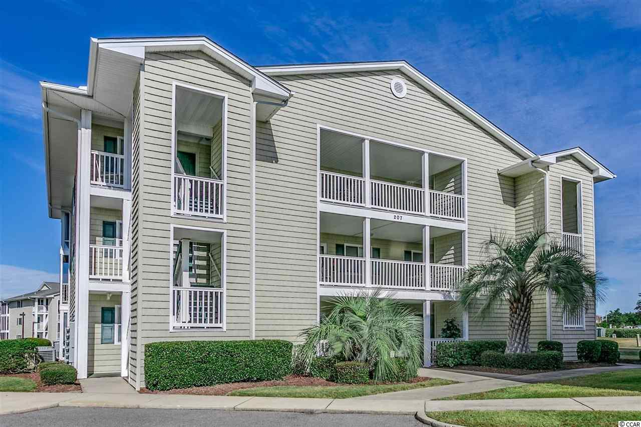Welcome home to this beautiful 2 bedroom, 2 bathroom condo in the gated community, Waterway Landing. This unit is fully furnished and features updated wood laminate flooring throughout. The kitchen is equipped with white appliances, a large breakfast bar, and dining area. Each bedroom includes plenty of living space with room for a seating area, spacious closets, and easy access to a bathroom. The master offers a sliding glass door to your screened in balcony (Also accessible from the living room.) Enjoy your afternoons on your screened in balcony with a view of the waterway, or socializing at the community pool! This community also has walkways out to the water, each with a picnic table and grill area to enjoy picnics while watching the boats go by! Conveniently located near all of the Grand Strand's famous dining, shopping, and entertainment attractions, and just a short drive to the beach. Whether you are looking for your forever home or a second home near the beach, you won't want to miss this. Schedule your showing today!