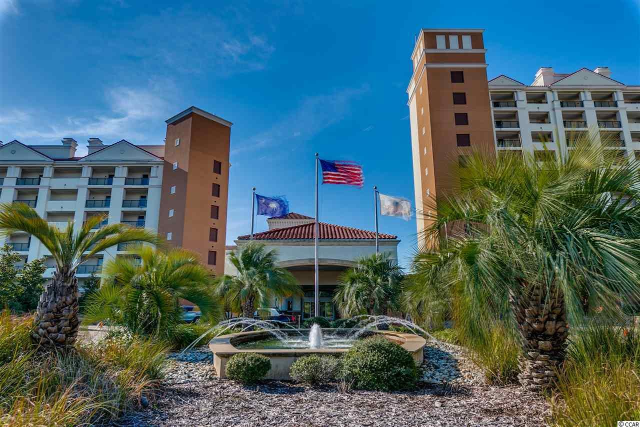 Luxury 2BR/2BA condo at The Marina Inn at Grande Dunes. Top floor corner listing in Bld 4 overlooking the yachts in the marina, the Intracoastal Waterway, and the Grande Dunes golf course. Rare floor plan with separate balconies off the living room and the master bedroom. Located in the prestigious 2000 acre Grande Dunes master-planned community, The Marina Inn is a AAA Four Diamond rated resort, one of only a handful on the entire Grand Strand. Interior features include granite counter tops in the kitchen and baths, 9 FT ceilings, upscale designer furnishings, custom cabinets, crown molding, fireplace, ceramic-tiled shower and bath areas, and double vanities in both bathrooms. Shower and tub in both bathrooms as well. Excellent second home or vacation rental property with impressive onsite rental management. Grande Dunes itself is amazing. Dining is available at Ruth's Chris, Waterscapes Restaurant and The Anchor Café perched over the Intracoastal Waterway. Other highlights include several bars, including a seasonal pool bar, a lushly landscaped outdoor pool overlooking the marina, an indoor pool, a fitness facility, lavishly decorated common areas and lobbies, expansive meeting spaces, and an elegant onsite rental management check-in area. The lobby is staffed 24-hours a day and there is 24-hour security. Concierge and valet services are available to guests. The 126-slip Marina at Grande Dunes is one of the finest full-service facilities on the east coast. Ownership at The Marina Inn at Grande Dunes includes membership in the Grande Dunes Ocean Club, featuring an exquisite oceanfront clubhouse with impressive architecture, oceanfront dining, multiple pools and private beach access. Although the Ocean Club is only available to Grande Dunes Owners, guests of the Marina Inn rental management have shuttle access to the oceanfront. Other features of Grande Dunes include two award-winning golf courses and the acclaimed Tennis Club with Har-Tru courts, a state-of-the-art fitness center, pool and more. The Marina Inn is tucked away in the peaceful, upscale north end of Myrtle Beach but is close to major attractions such as Broadway at the Beach, the Tanger Outlet Mall, Ripley's Aquarium, Pirates Voyage, Carolina Opry, Barefoot Landing, and Restaurant Row. The HOA fee includes building insurance, HO6 insurance, unit electric, water/sewer, internet, cable, phone, membership to the Ocean Club, and all maintenance/upkeep of the awesome amenities and common areas. All information is deemed correct, but it is the responsibility of the buyers and their agent to verify all information.