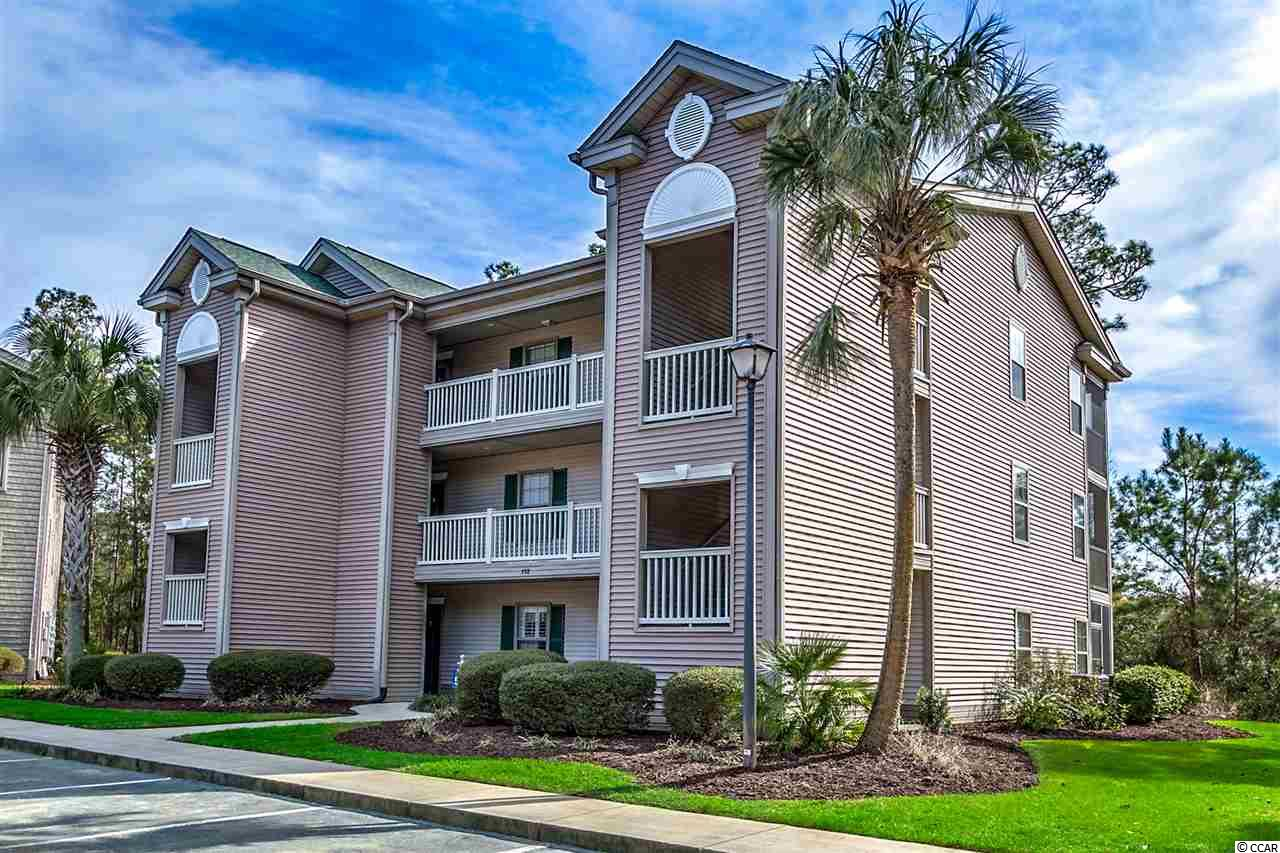 This 2 bedroom and 2 full bathroom condo is located in True Blue Golf Resort. The kitchen opens to the main living area and has vaulted ceilings with no one living above you! The outside deck/balcony is screened in for your outside enjoyment. The master bedroom has a large walk-in closet and this condo also has a full size washer and dryer that is included along with it being sold fully furnished! All you will need to do when you purchase this particular condo is bring your golf shoes or flip flops for the beach. True Blue Community features several pools with hot tubs, tennis courts, gazebo and picnic areas throughout the community. Make sure you put this condo on your list to view with your Realtor today. This condo can be show ANYTIME and has NEVER been rented! This condo is being Sold fully furnished and short-term and long-term rentals ARE permitted in this community!
