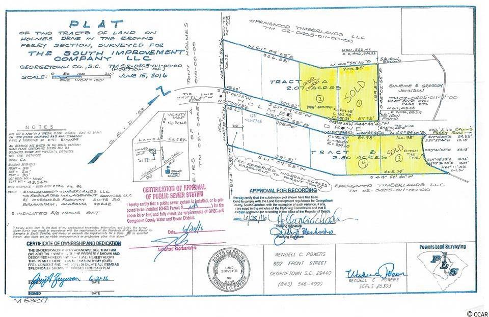 Owner Financing available. Approximately a half acre lot on a paved road with sewer to the lot line. Ten minutes from Georgetown - in the Browns Ferry / Lanes Creek Area.