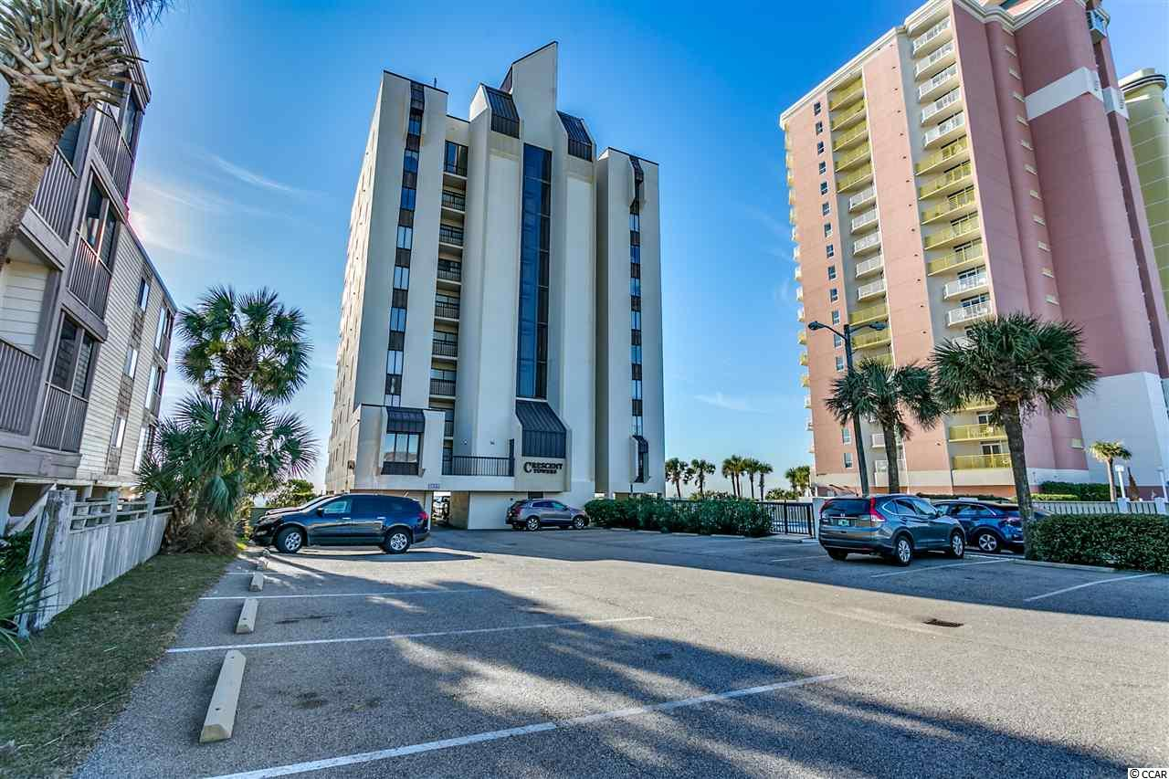 *** OPEN HOUSE THIS SATURDAY FEBRUARY 16th 1-3!!!*** North Myrtle Beach is known to be one of the widest beaches in the world! This oceanfront, 4th floor, corner unit has captivating views of the coastline- you can see for miles! This unit has been used only a handful of times each year, as a vacation home, since 2006. Unwind on your balcony watching the tide roll in, beach go-ers, boats and parasailers. Open your balcony door to allow the ocean breezes to sweep through; the salt-air to relax you; and, to enjoy the calming sounds of the waves. Wonderful Crescent Beach location near shopping, dining, golf and entertainment. Lots to see and do within minutes; or just steps to the beach if you prefer to do nothing. Comes fully furnished, including appliances. Washer/Dryer in unit. Sleeps 6, featuring a king-size bed in one BR and sleeper sofa. Ready to enjoy as a summer home, investment property (short-term and long-term rentals are allowed in this building); or, ready to use as your primary residence if your dream is to live the coastal, low-maintenance lifestyle. Low HOA fees for an oceanfront condo! Amenities include pool, sundeck, picnic area with grills, boardwalk to the beach, water/sewer, basic cable TV and internet. HVAC replaced 2015. Large storage room for beach chairs, sand buckets and golf clubs on your private balcony. New elevator recently installed in the building. Plenty of parking to accommodate the 34 units in this building~parking underneath the building, plus a parking lot; and, across the street has additional parking area. Owners are allowed to have pets. See today and make this your vacation home by Spring!