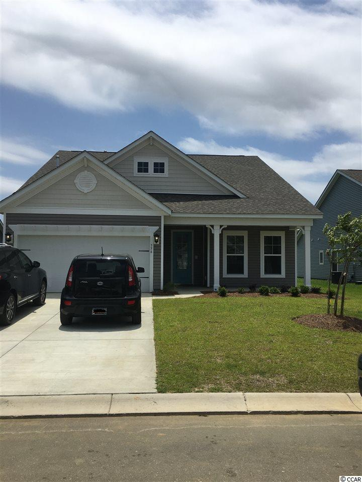 This Cordova home in Surfside Plantation is located off of HWY 707, close to public beach access in Surfside Beach. Enjoy close proximity to golf, shopping and dining in Myrtle Beach and Surfside Beach, the Myrtle Beach State Park and the Market Common District. Located on a corner lot, this 3-bedroom, 2-bathroom home features a secluded master bedroom and a private study. Welcome guests into your home at the extended foyer featuring the latest luxury flooring. The study features French doors and is perfectly situated at the front of the home. The kitchen features spacious granite countertops, stainless steel Whirlpool® appliances, including refrigerator and gas range and is conveniently located near the breakfast area. The great room features luxury floors and large windows. The master bedroom boasts of a bay window with views to the backyard. The master bathroom features a walk-in shower, tile floors, double raised vanities and a large walk-in closet. Covered porch in the backyard, fully sod yard, and attic storage located in the garage with pull down stairs. Laundry package and blinds included. Every home is built to ENERGY STAR® standards, is tested, and receives an individual ENERGY STAR certification saving you money every month on your utility bills. Home is under construction, completion in March 2019. Photos of a previously built home.