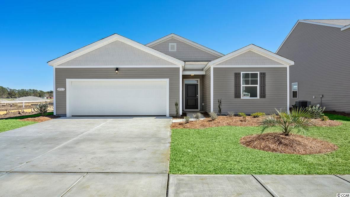 This SMART HOME is adorable 1 level open-concept MOVE IN READY FEBRUARY Enjoy a large family room, private owners' suite, rear 2-car garage. We are the price-leader for single family homes in Market Common! Our home owners will enjoy a gracious pool, open air amenity center, pickle ball court, walking trails and a short golf cart ride to the beach. Live like you're on vacation! Photos of home are of a model home of same floor plan in another community and are for presentation only.