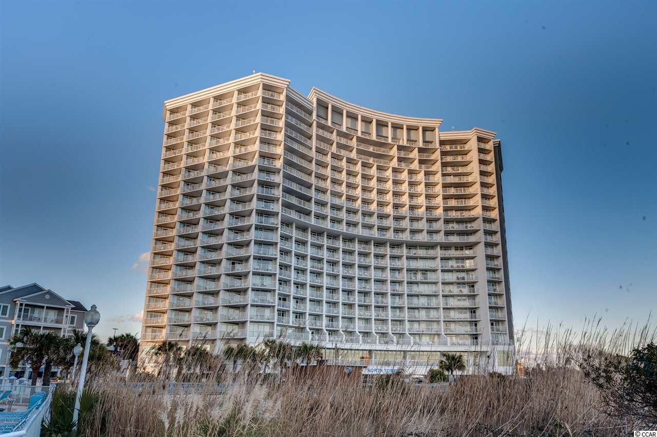 The only direct oceanfront 1 Bedroom in the North Tower. Located in one of the most popular resorts in Myrtle Beach, this unit comes fully furnished and is equipped with full size kitchen. HVAC SYSTEM REPLACED (2016), ALL NEW APPLIANCES (as of 2017) AND GORGEOUS VIEWS OF THE ATLANTIC OCEAN! The Resort sits on 10 acres and features many amenities: 5 outdoor pools, 2 indoor pools, 12 Jacuzzis, lazy river, an oceanfront restaurant/lounge, fitness room, onsite pizzeria, an ice cream cafe and much more.
