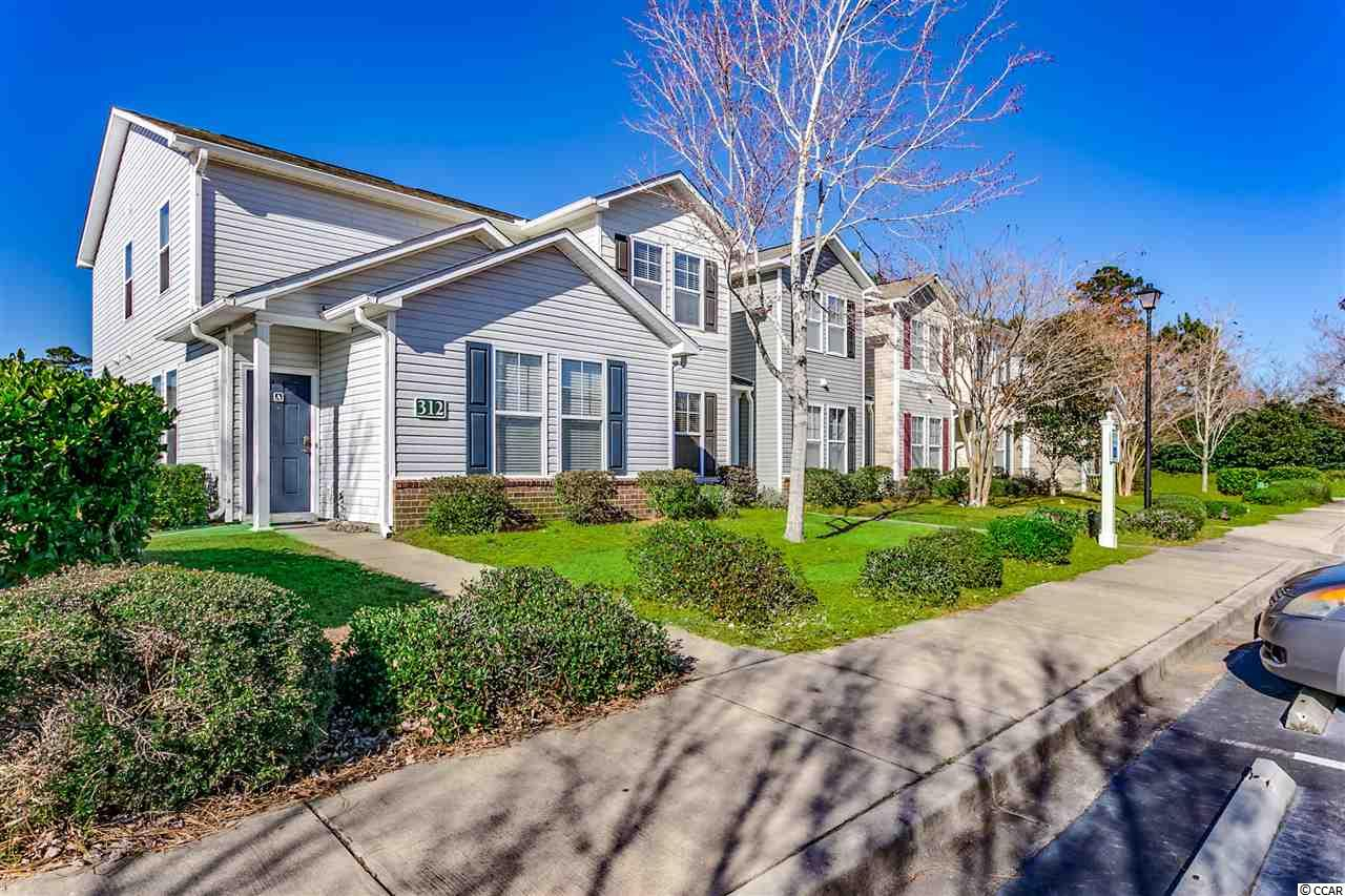 Very RARE OPPORTUNITY to own a 2 story townhouse style unit WITH GARAGE in this sought after community! This spacious and extremely functional 3 bed, 3 full bath floor plan is enough to accommodate a variety of owners and comes furnished and move in ready. Hansom natural laminate flooring throughout the first floor connects the downstairs bedroom to the main living area. The first floor bedroom has an adjoining bathroom making it a perfect downstairs master or could also be utilized as an office/ flex room. The open floor plan kitchen with light cabinets, contrasting dark counters, black appliances and pantry looks out over the living room with ceiling fan and large windows letting in tons of natural light. Feel at home on your private screened in porch with storage looking out over relaxing lake views. Upstairs is a master bedroom fit for royalty with vaulted ceilings, his & hers walk in closets and en-suite bath with a vanity. Down the hall is the third full bathroom as well as the third bedroom and laundry room with washer and dryer included! Outside you will find a spacious one car garage equipped with garage door opener and separate entryway perfect for everyday parking or storage. Kiskadee Parke is highly desirable because of its location close to CCU, HGTC, shopping, dining, and minutes from the ocean. The amenities include a clubhouse, a popular swimming pool, and basketball court! Square footage is approximate and not guaranteed. Buyer is responsible for verification.