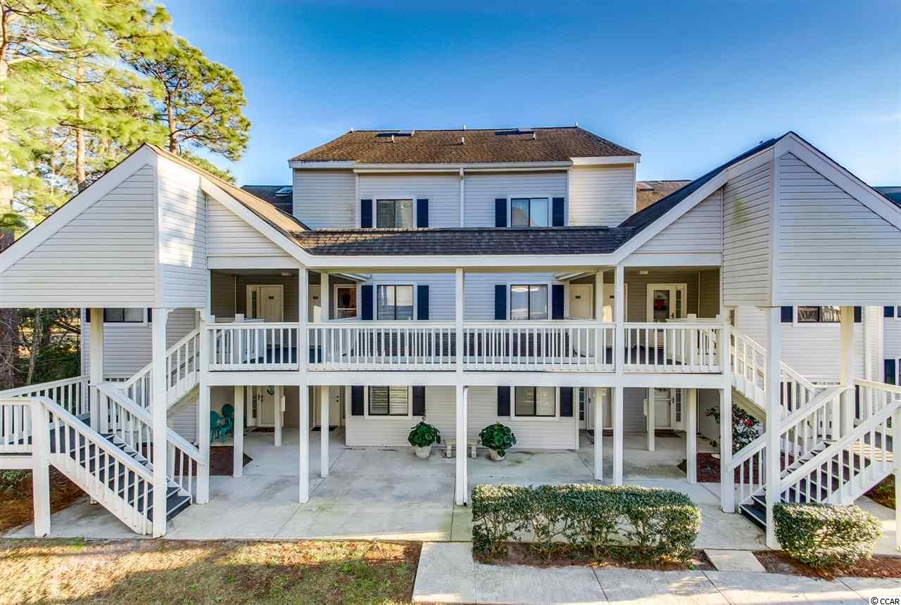 Move right into this furnished condo beach getaway! 2018 HVAC & newer hot water heater. The living area is open and spacious with a great view of the pool. The kitchen features lots of space with all appliances included, a pantry and a breakfast bar. The large master bedroom has a full bath set up. The storage room has a washer and dryer and room for extra beach supplies. Relax on the private back porch and enjoy the Carolina weather. This condo includes 2 sleeper sofas to make room for those surprise guests. Tucked away in a back corner of Deerfield and conveniently located to all Surfside Beach has to offer. HOA includes water, sewer, trash, cable, internet, landscape, and their beautiful pool and tennis courts! Square footage is approximate and not guaranteed. Buyer is responsible for verification.
