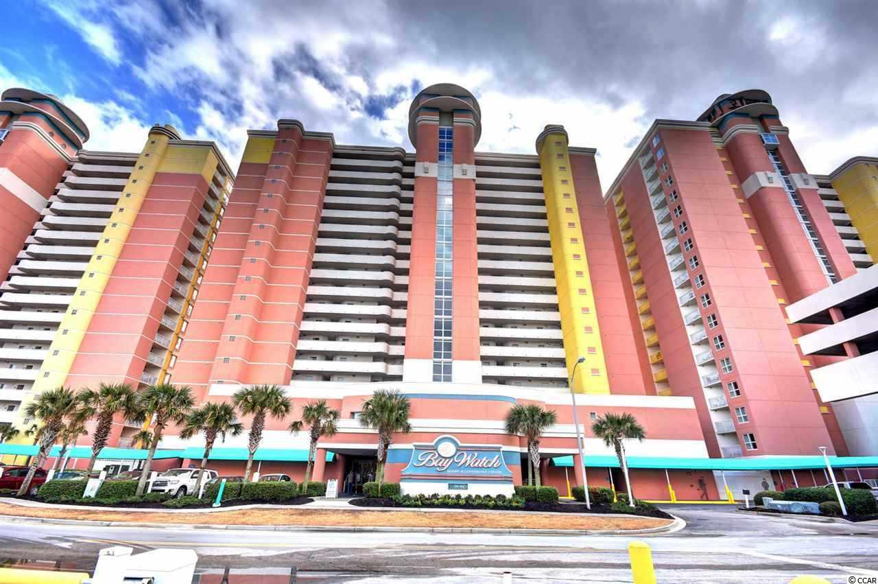 Stop here and view this Beach Lover's Paradise! This one bedroom, one bathroom condo has AMAZING views of the Atlantic ocean from the 18th floor of Bay Watch Resort. It accommodates up to six people with the king size bed in the Master and a Murphy bed and pull out sofa in the living area. The upgraded tile and laminate flooring give the condo a clean, fresh look. The galley kitchen has all of your cooking needs if you choose to eat in during your vacation. You can sit on your balcony for hours viewing the ocean and listening to the crash of the waves against the shore. Bay Watch resort features indoor and outdoor pools, lazy rivers, a fitness room, a business center, restaurants and bars, a convenience store, and WIFI. You don't even have to leave the resort your entire vacation because everything is at your fingertips. If you do decide to venture out, there is shopping, dining, entertainment, and attractions just minutes from the resort along the Grand Strand. This could be your perfect vacation spot or investment opportunity, so Don't Miss Out!