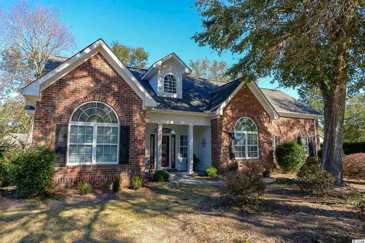 Four bedroom, 2 1/2 bathroom, meticulously kept, 1 owner, all brick custom built home in the beautiful, gated community of Big Landing in Little River. This home has so many features including lots of light, high ceilings, a large master bedroom, walk-in closet, tray ceilings, large master bathroom, double sinks, jetted tub, separate shower, lots of crown molding, beautiful cherry cabinets, granite countertops, stainless steel appliances, breakfast nook, formal dining room, built in cabinets, hardwood and tile flooring, large bonus room (4th Bedroom) above garage with lots of storage space, nice fixtures, plantation blinds, gas (propane) logs, large laundry room with cabinets, utility sink in garage, side load two car garage, large nicely landscaped backyard and front yard , screened in porch with tile floors, mature trees, gutters, large tucked away, patio and directly across the street from the community pool and clubhouse. Big Landing has beautiful trees, great views and a community pier. Spectacular home in a great neighborhood!