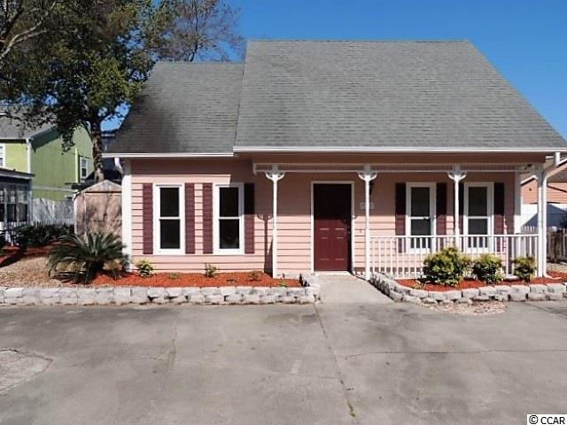 Tucked away on a quiet, tree-lined, cul-de-sac street, with no thru-way traffic, you will find a picket fence enhanced, picture book, cute and cozy cape. Enjoy comfortable living this close to the beach in this 3br/2ba charming patio home. The outside was recently painted in 2018, with new siding to the north side of the house. The property is completely landscaped for very little maintenance and surrounded by 4ft vinyl fencing on the sides and rear boundaries, with a picket fence in the front. There is an 8x10 detached storage shed, large enough to store a golf cart, and is wired with power, along with a smaller attached storage shed. Both sheds received new doors in 2018. The spacious living room is open to the tiled dining area, with new sliding glass doors in 2018, which leads outside to the rear patio. The galley style kitchen features all kitchen appliances, pantry, garden window, and solid countertops. The first floor bedroom has its own full bath, complete with walk in shower, and can be used as a first floor master. Upstairs you will find two additional bedrooms, one of which is also a master bedroom, with a walk in closet and an additional finished storage closet. This bedroom connects to the large hall bath, with sink, vanity, and shower/tub combo. Tiffany Plantation is a pool community, conveniently located in the Ocean Drive section of North Myrtle Beach, with just a short walk or golf cart ride to the beach, the many Main Street festivities, and the OD Pavilion.