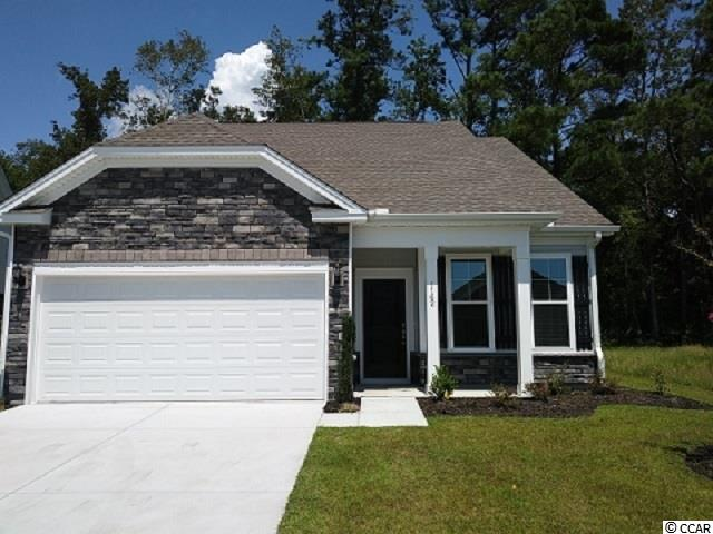 Latest plans in Cypress Village! Nicely appointed 3Br 3Bath with a huge bonus room. Open floorplan with Granite, nice LVP flooring, gas cooking, gas heat and Rinnai tankless hotwater system. Home also offers a gas fireplace in family area overlooking dining and kitchen. Garden doors open to a very nice covered porch on a wooded backed lot!. Come enjoy all the WOW amenities in place here at Cypress Village. LOW HOA covers lawn maintenance, full yard irrigation, pool/cabana, full gym, putting green, bocce ball, pickle ball courts and lots of organized activities!