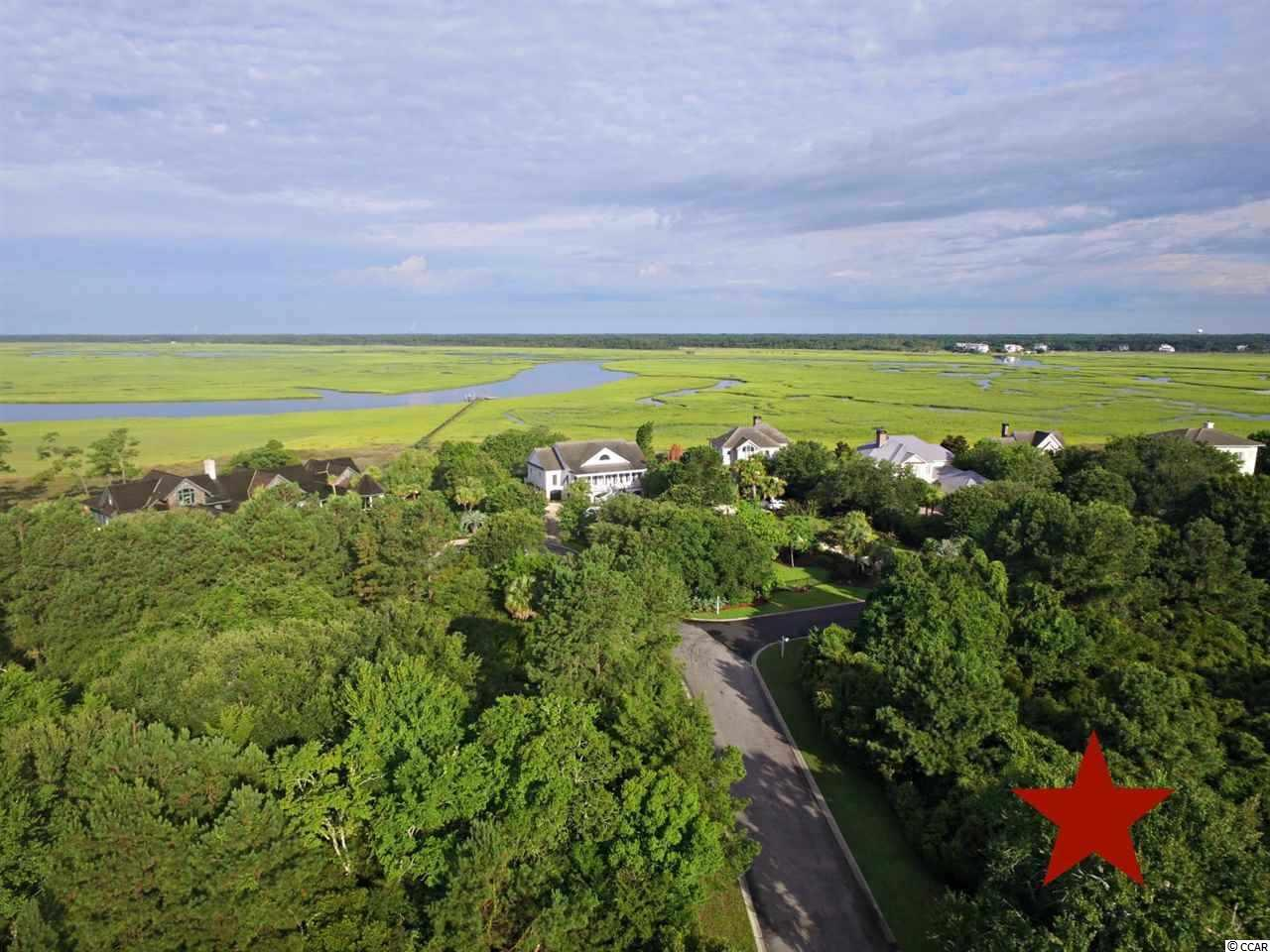 DeBordieu Colony - This extra wide, waterfront lot is just steps from the private, Ocean Green beach access to the 2 1/2 miles of secluded, undeveloped beach at Hobcaw Barony, the nature preserve next door to DeBordieu Colony. Build the exact home you want with a spectacular, long view of the lagoon, home to many types of waterfowl and fish. If you build a roof top deck on your raised home, you'll enjoy views of the ocean and of the marshes and creeks of North Inlet. Featuring gorgeous Live Oaks, the dimensions of this special piece of paradise are 166 x 232 x 72 x 167. DeBordieu Colony is a very private community on the coast of South Carolina, between Charleston and Myrtle Beach, just south of Pawleys Island. In addition to 6.5 miles of secluded beach, boat landing access to North Inlet, and a 24-hour manned security gate, the private, equity DeBordieu Club offers Pete Dye golf, a tennis and fitness center and an ocean front Beach Club with fine dining, a gazebo bar, two pools, and a playground.  Can't find the perfect house? Build it on the perfect spot! There is truly no place like DeBordieu Colony. Come see for yourself!