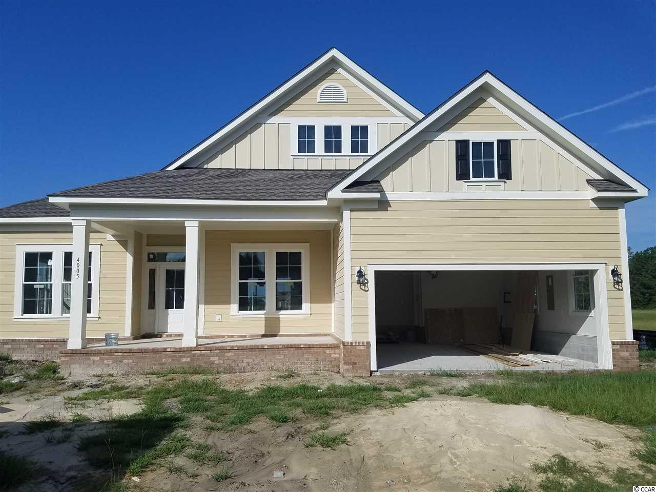Brand new single story 'under construction' 'Magnolia' home on water in Waterway Palms Plantation!  This ranch style 4 BD 3 full bath home will feature over 2,400 heated sq ft of living space, open floorplan with 10 ft ceilings, great room, formal dining area, tile in all wet areas including master shower & kitchen backsplash.  Carpet in all bedrooms with 8# pad, crown molding in main living areas, granite counter tops throughtout, propane tankless water heater, LVP flooring in great room, dining and stairs.  Also includes 'Honeywell Tuxedo Touch Home Automation', R-50 attic insulation, 2 yr energy guarantee, both covered and screened porch, garage and landscaping packages. Builder works with Home Energy Group (HEG) to increase and improve energy efficiency in their homes.